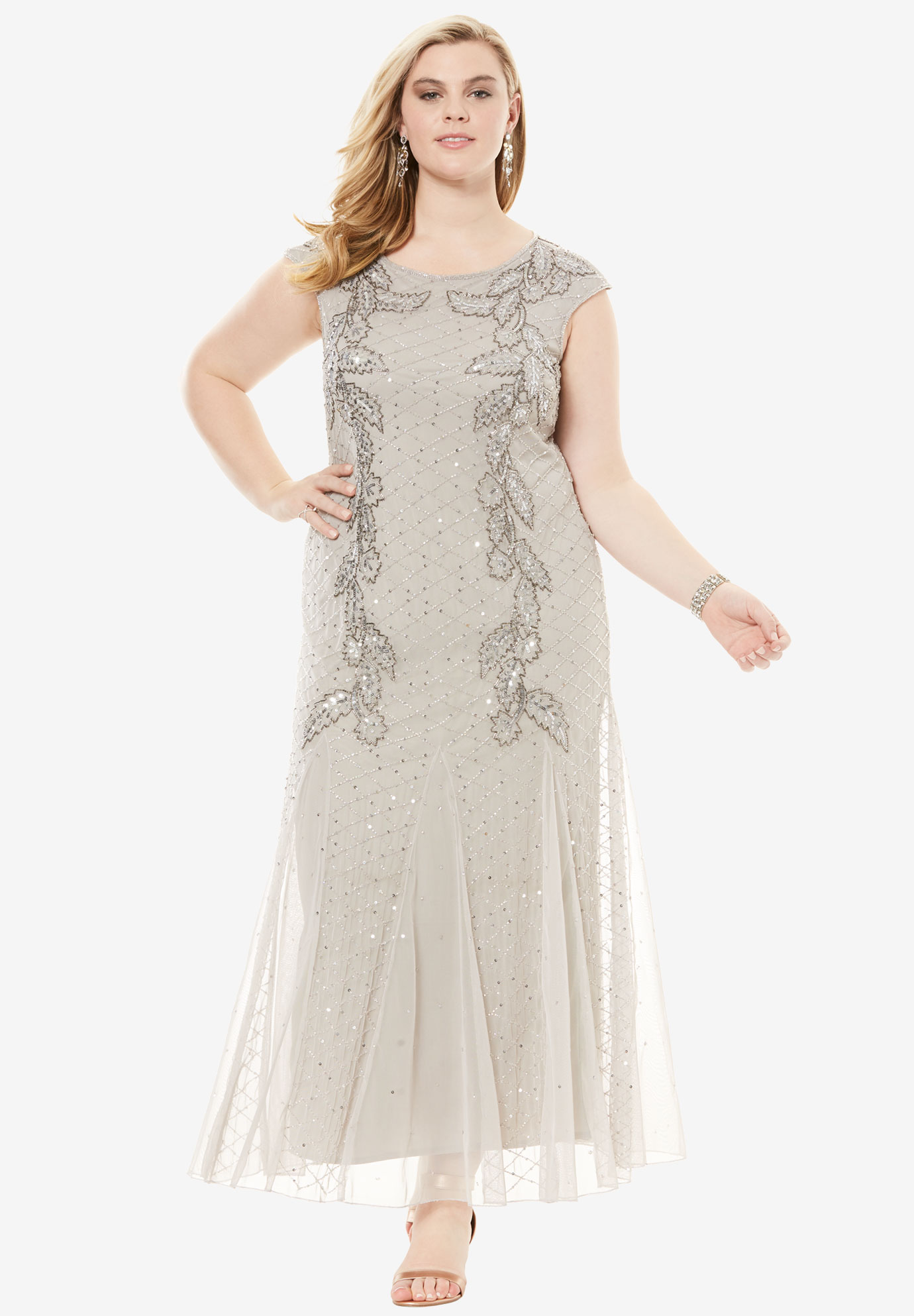73895ee5fbd Long Beaded Dress by Pisarro Nights