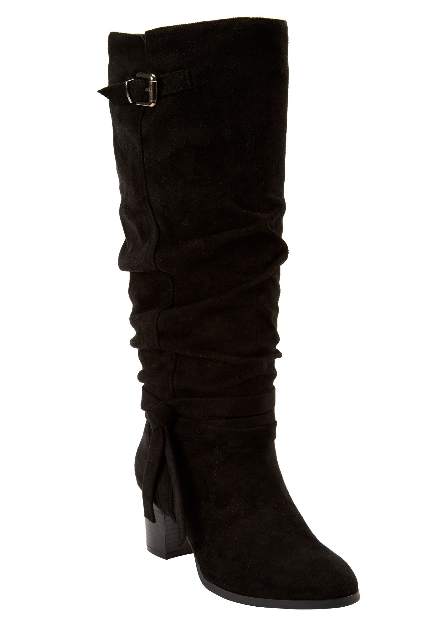 Brix Tall Calf Boot by Comfortview, BLACK, hi-res