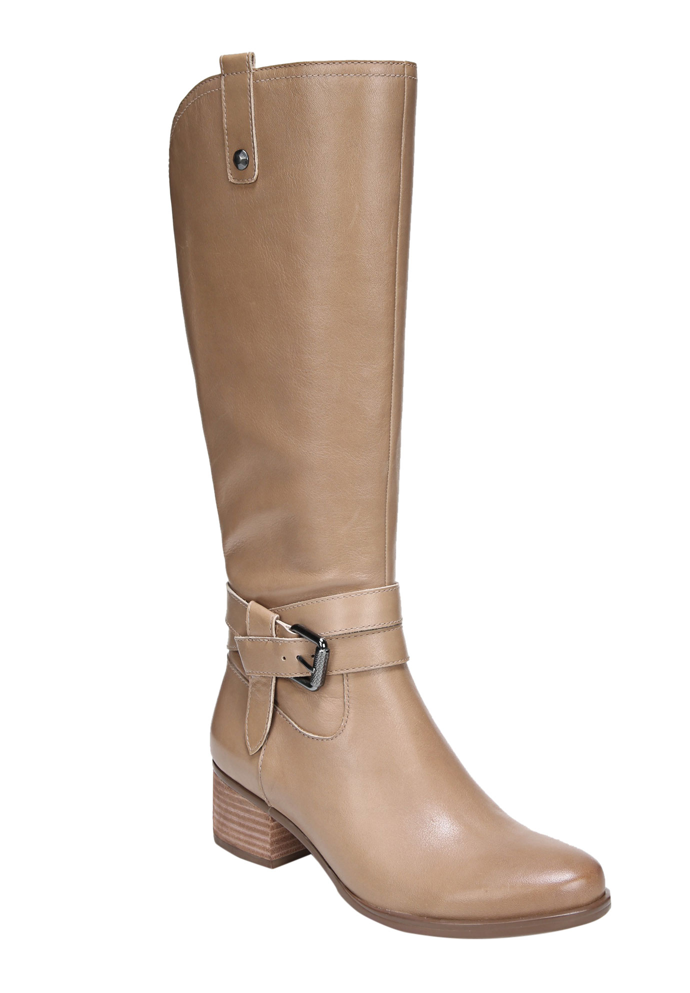 Dev Wide Calf Boots by Naturalizer®, OATMEAL, hi-res