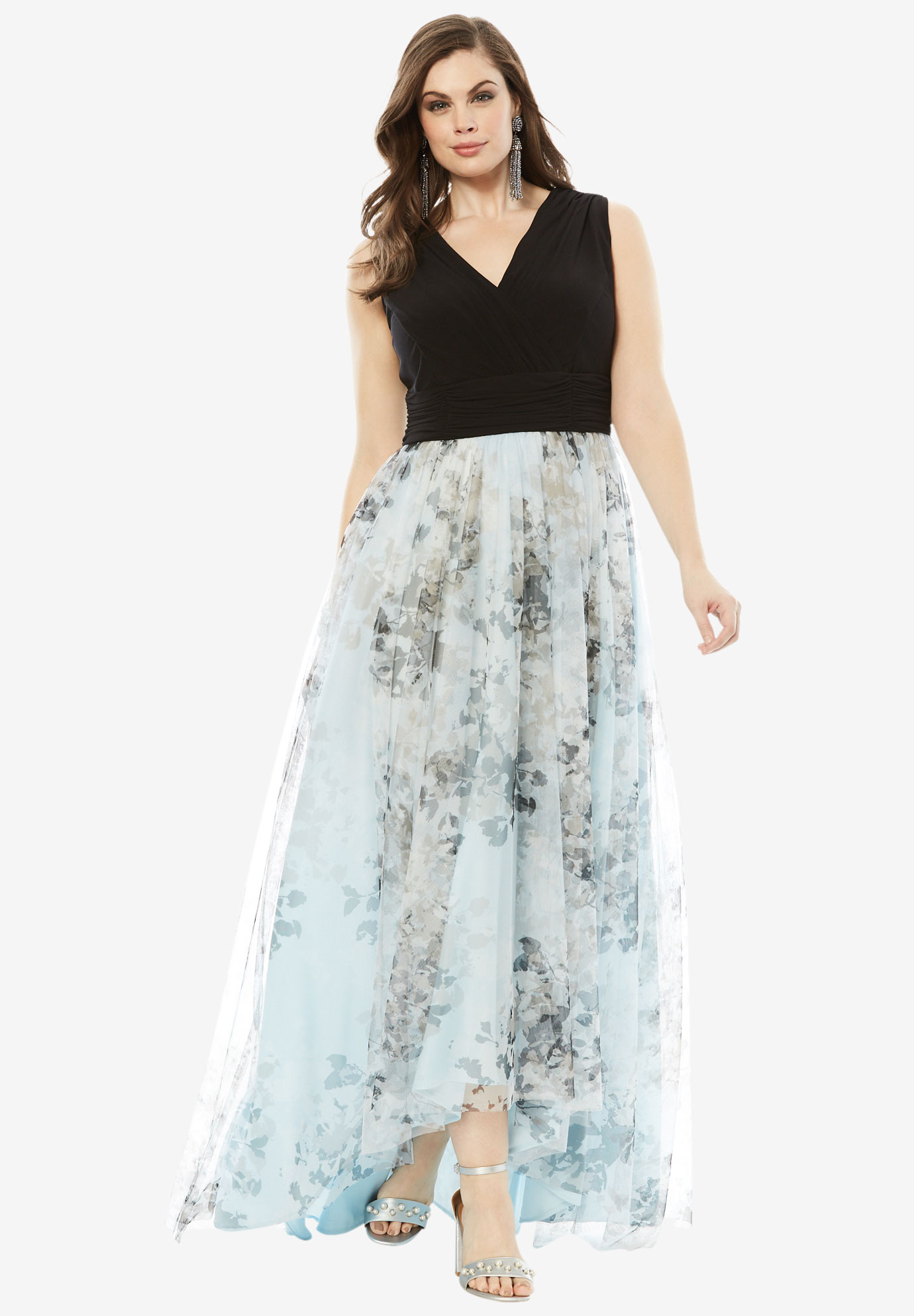 32099b799a7 Printed High Low Dress