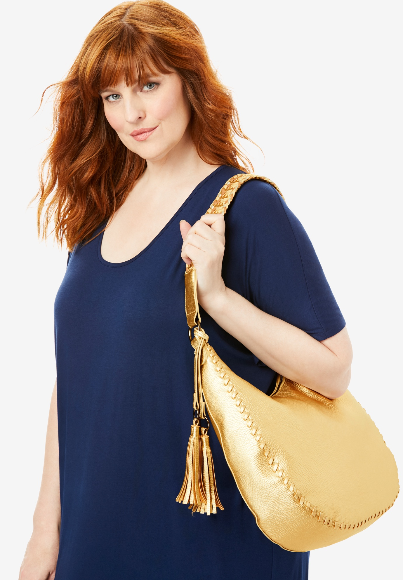 Metallic Hobo Bag, GOLD