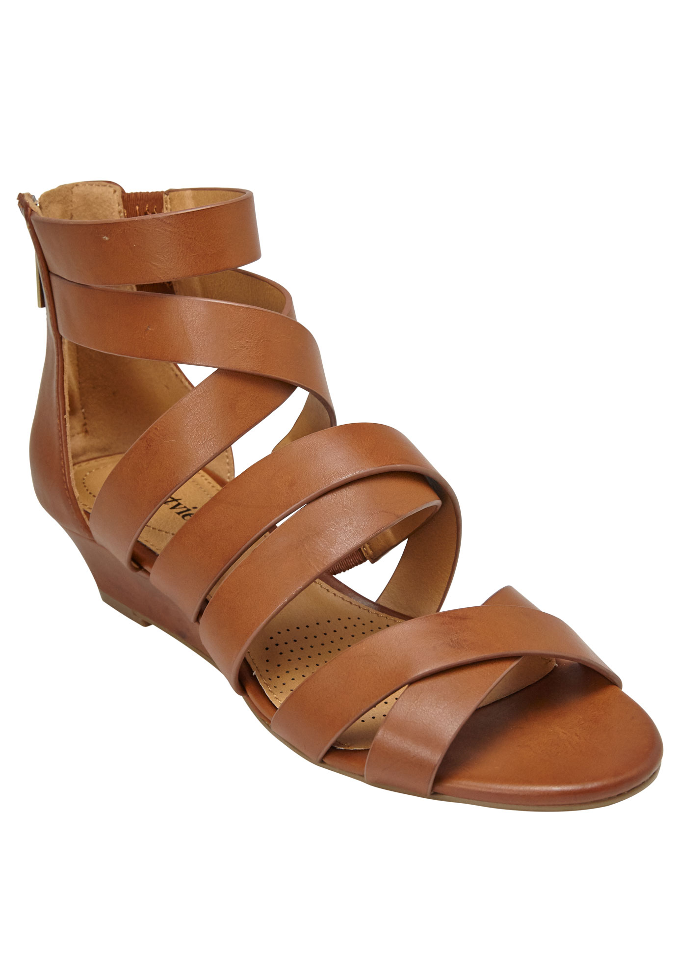 Lenci Sandals by Comfortview®, SADDLE, hi-res