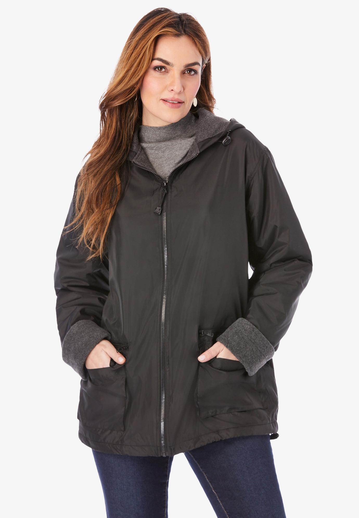 3e44a46d8eb Hooded Nylon Jacket with Fleece Lining