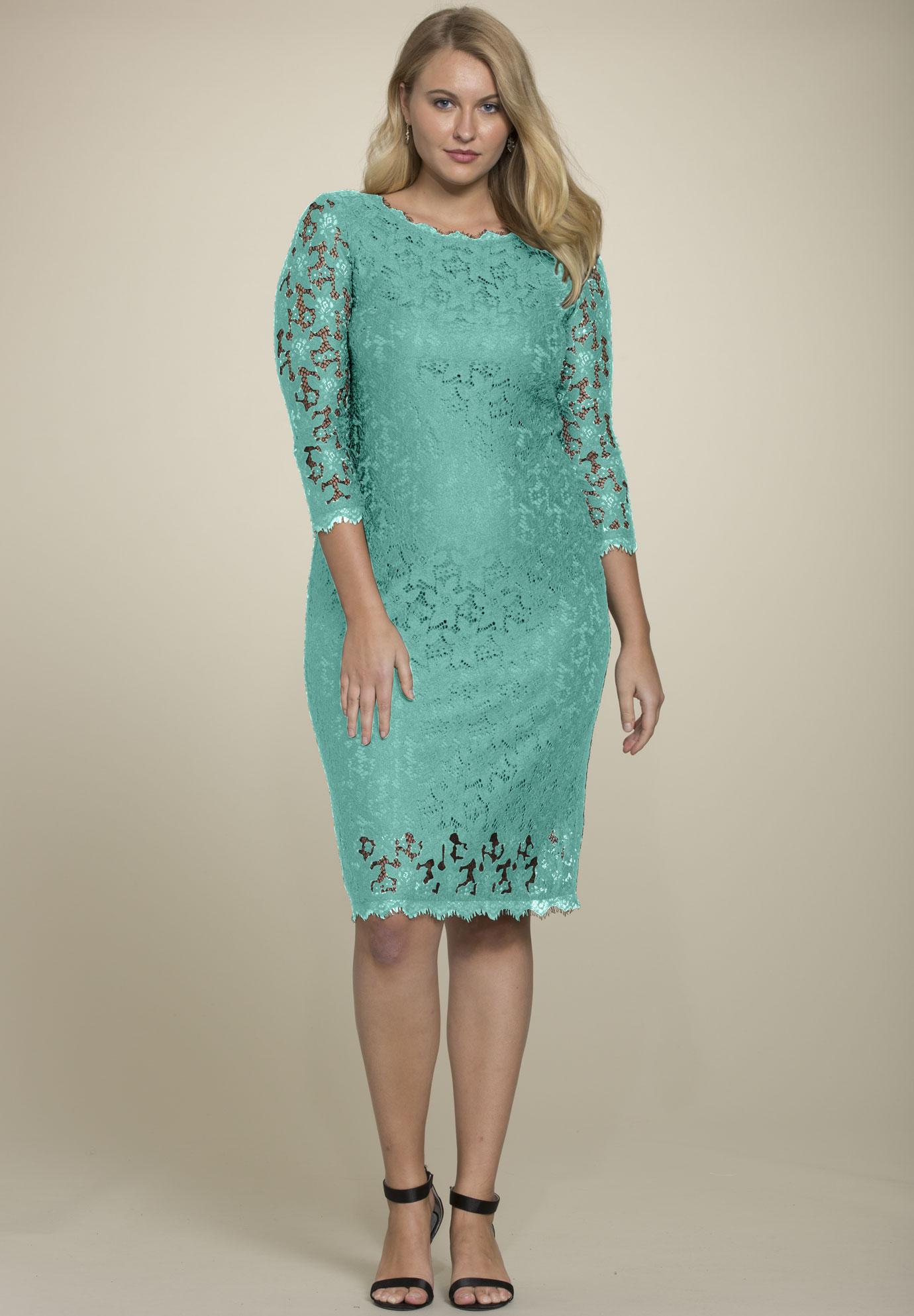 Lace Sheath Dress Plus Size Dresses Roamans