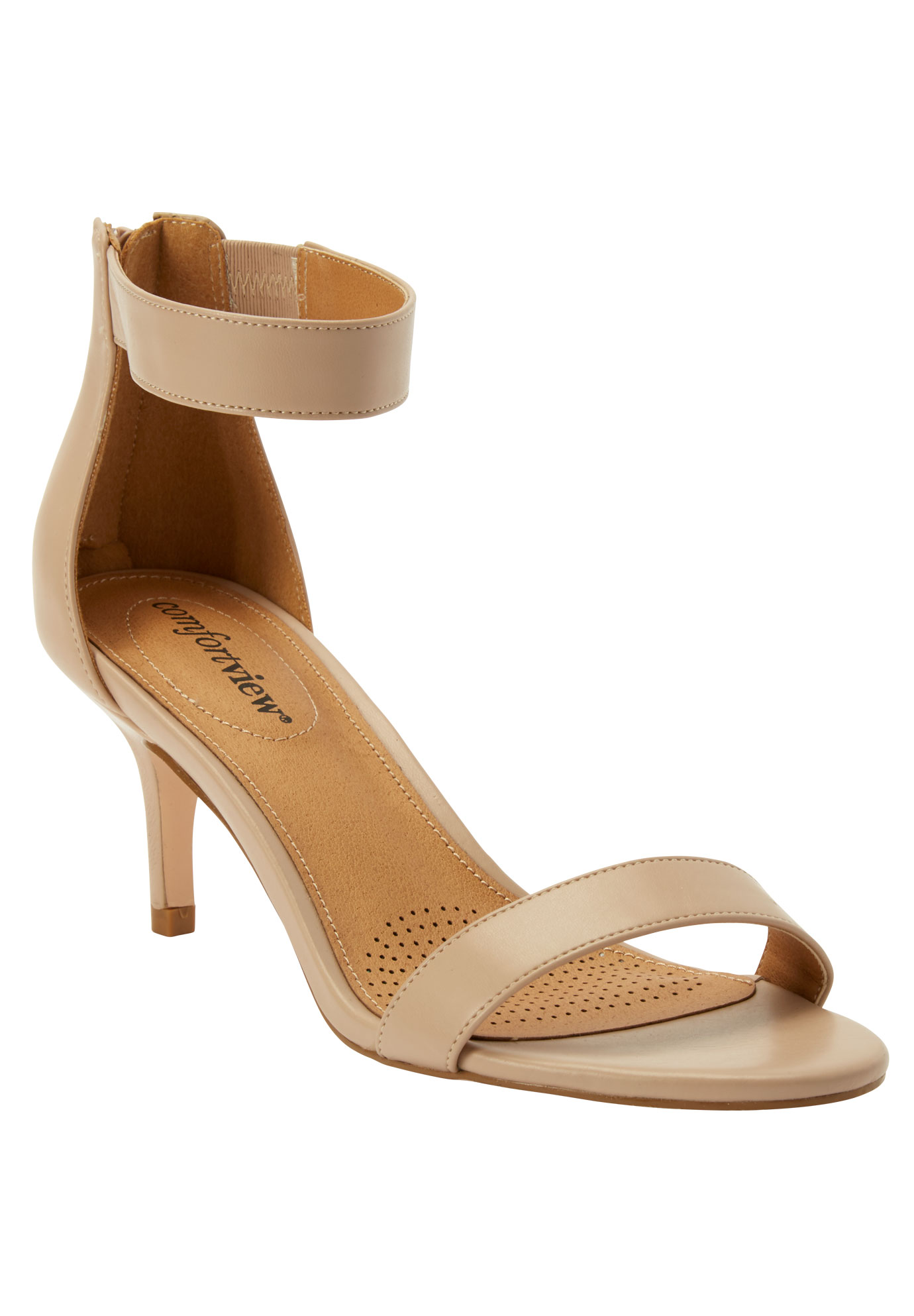 The Stevie Sandal by Comfortview®, NUDE, hi-res