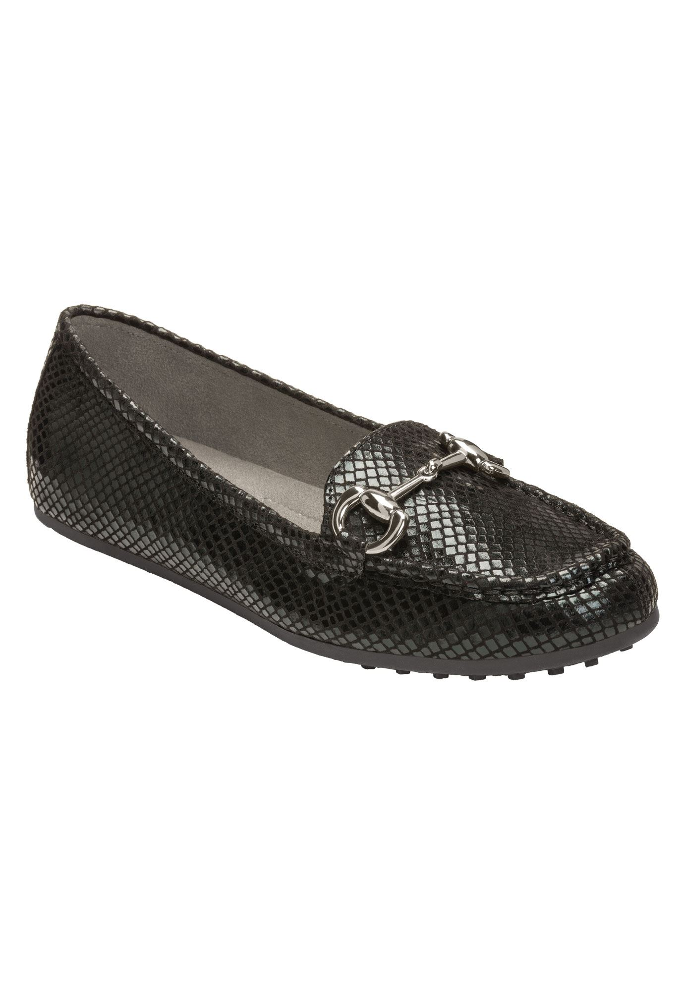 Drive Through Flats by Aerosoles®, BLACK SNAKE, hi-res