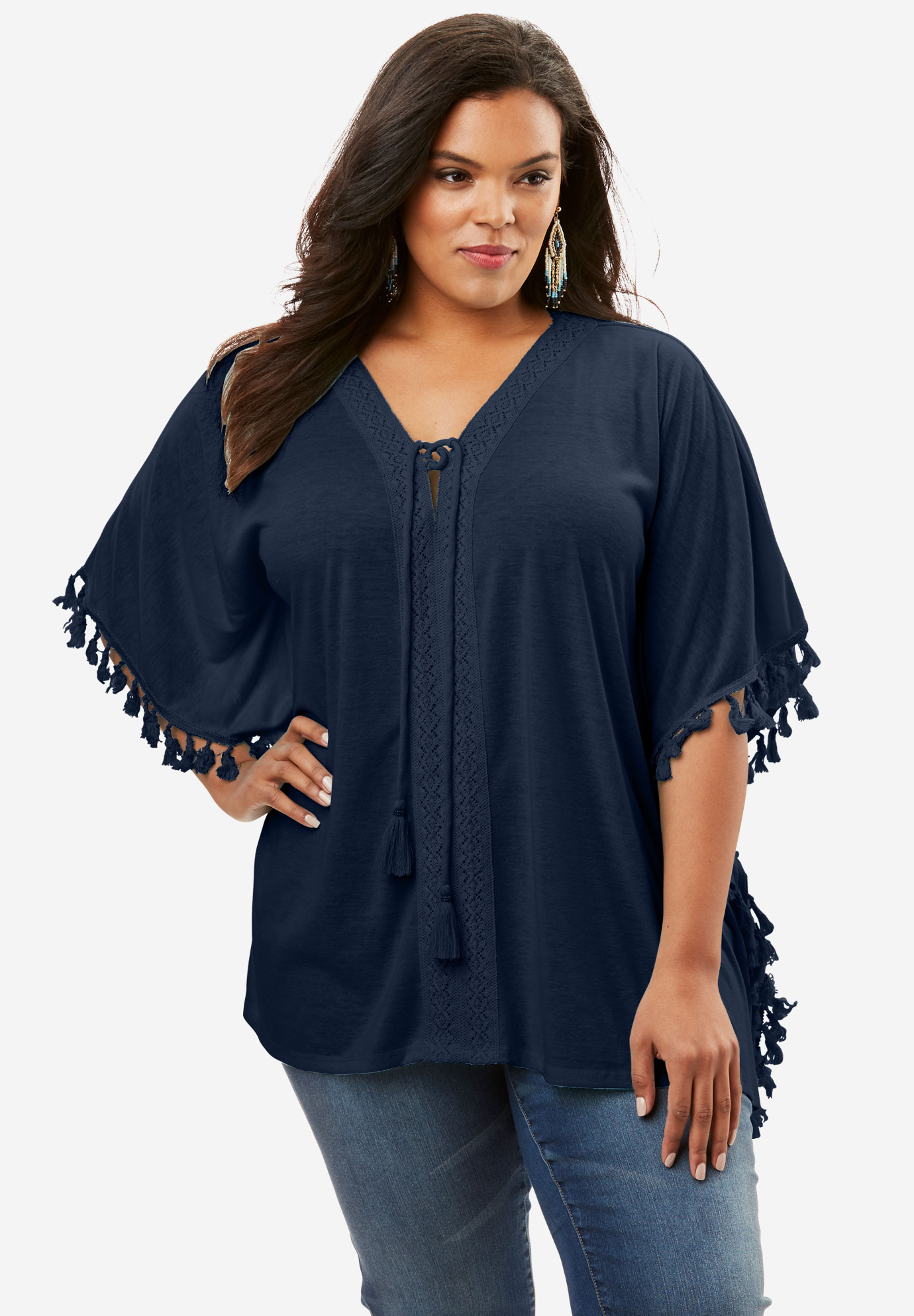 Lace-Up Poncho,