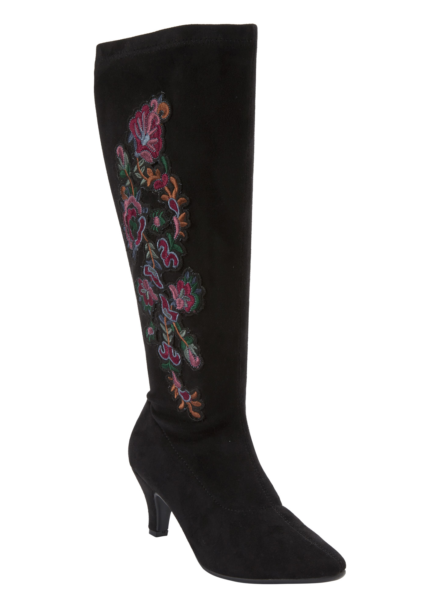 Rowen Tall Calf Boot by Comfortview, BLACK MULTI, hi-res
