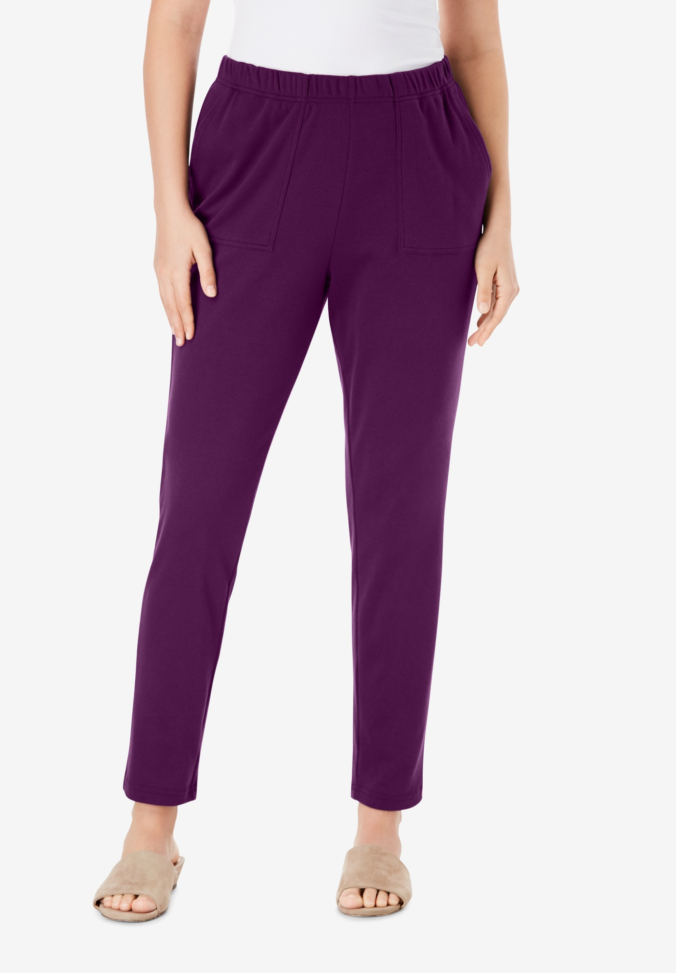Ankle-Length Soft Knit Pant,