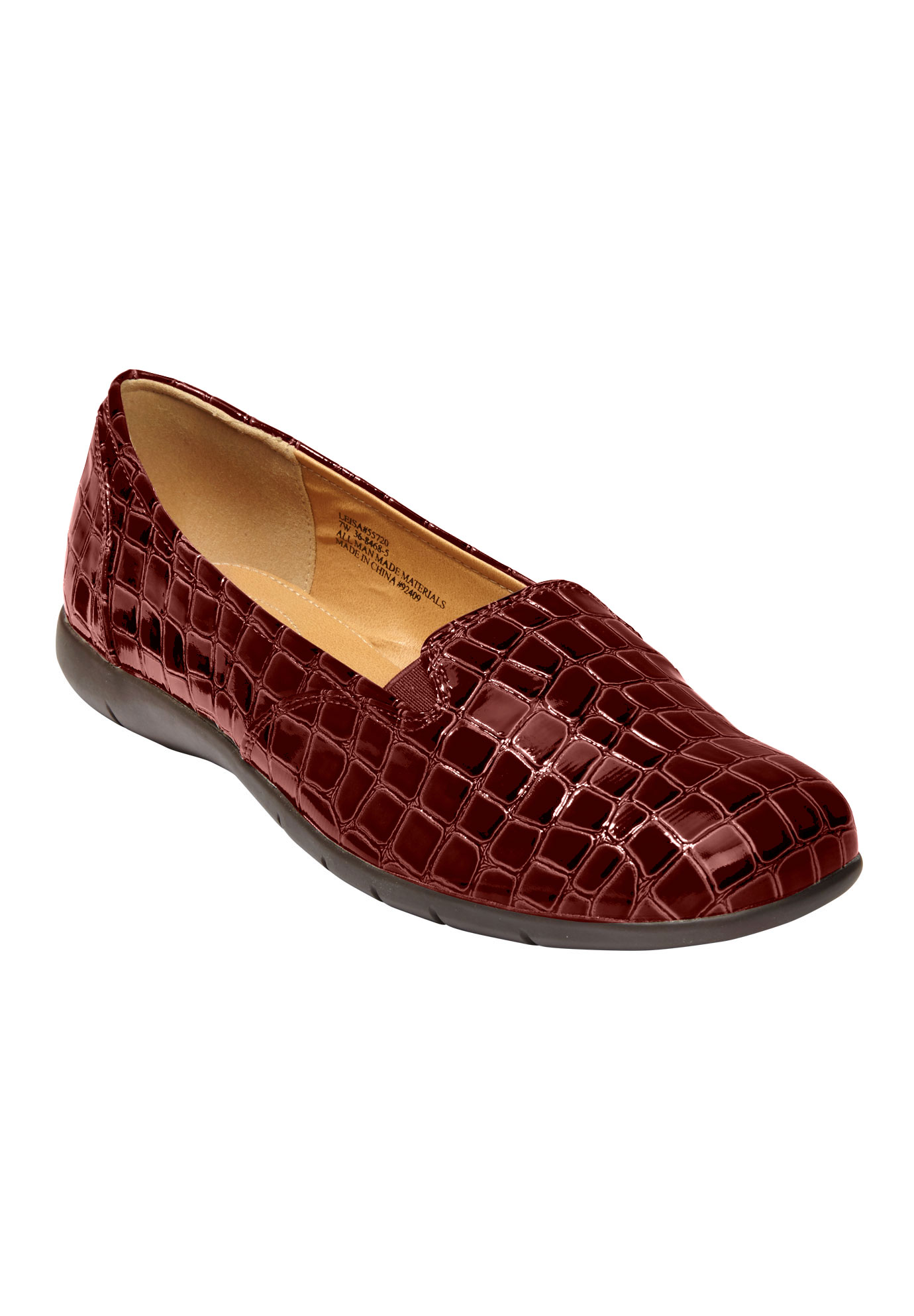 The Leisa Flat by Comfortview®, BURGUNDY, hi-res