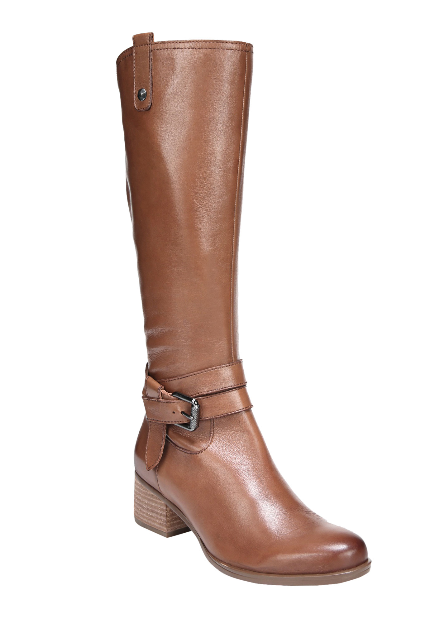 Dev Wide Calf Boots by Naturalizer®, SADDLE TAN, hi-res