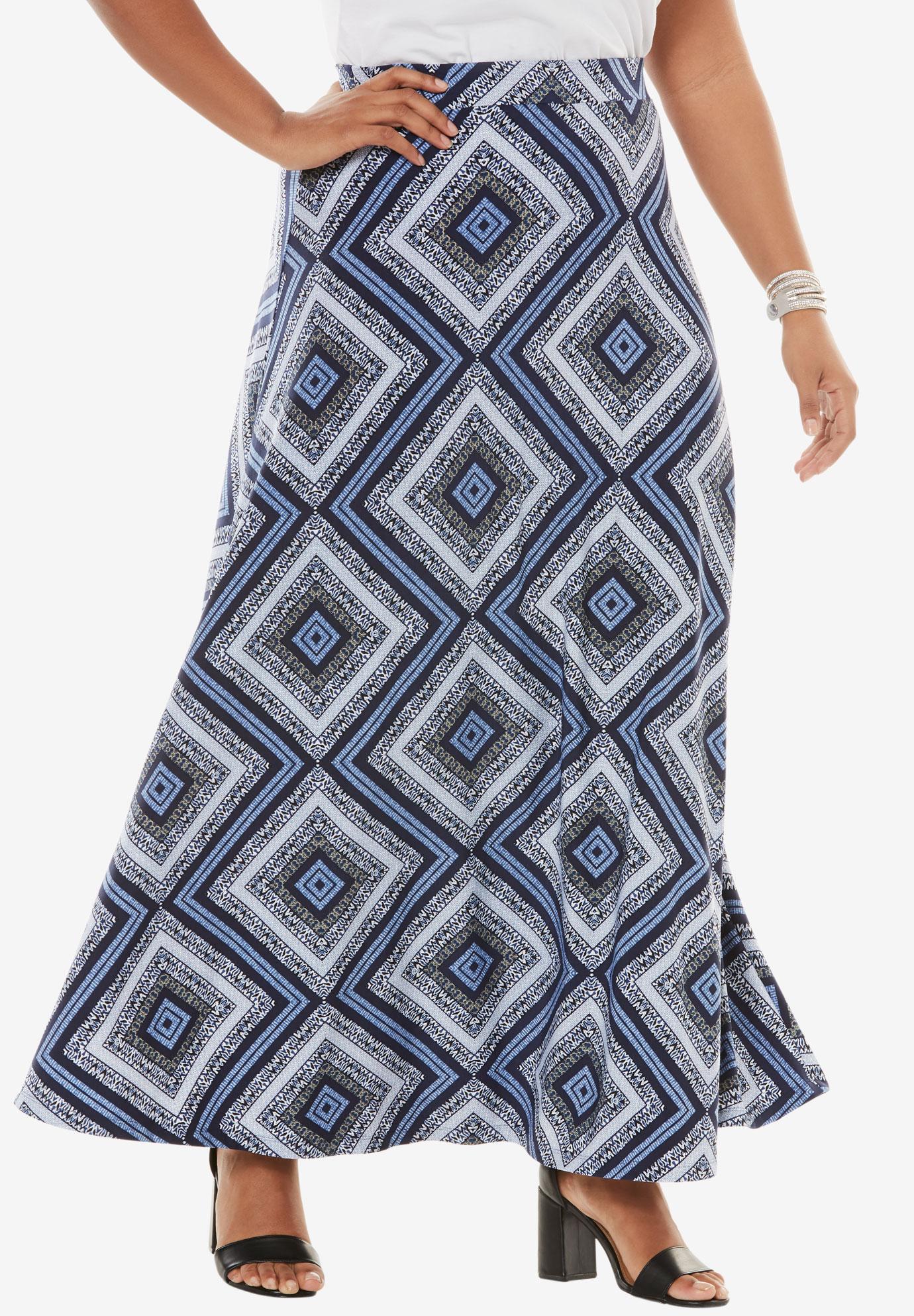 Knit Maxi Skirt   Plus Size Skirts   Roaman\'s