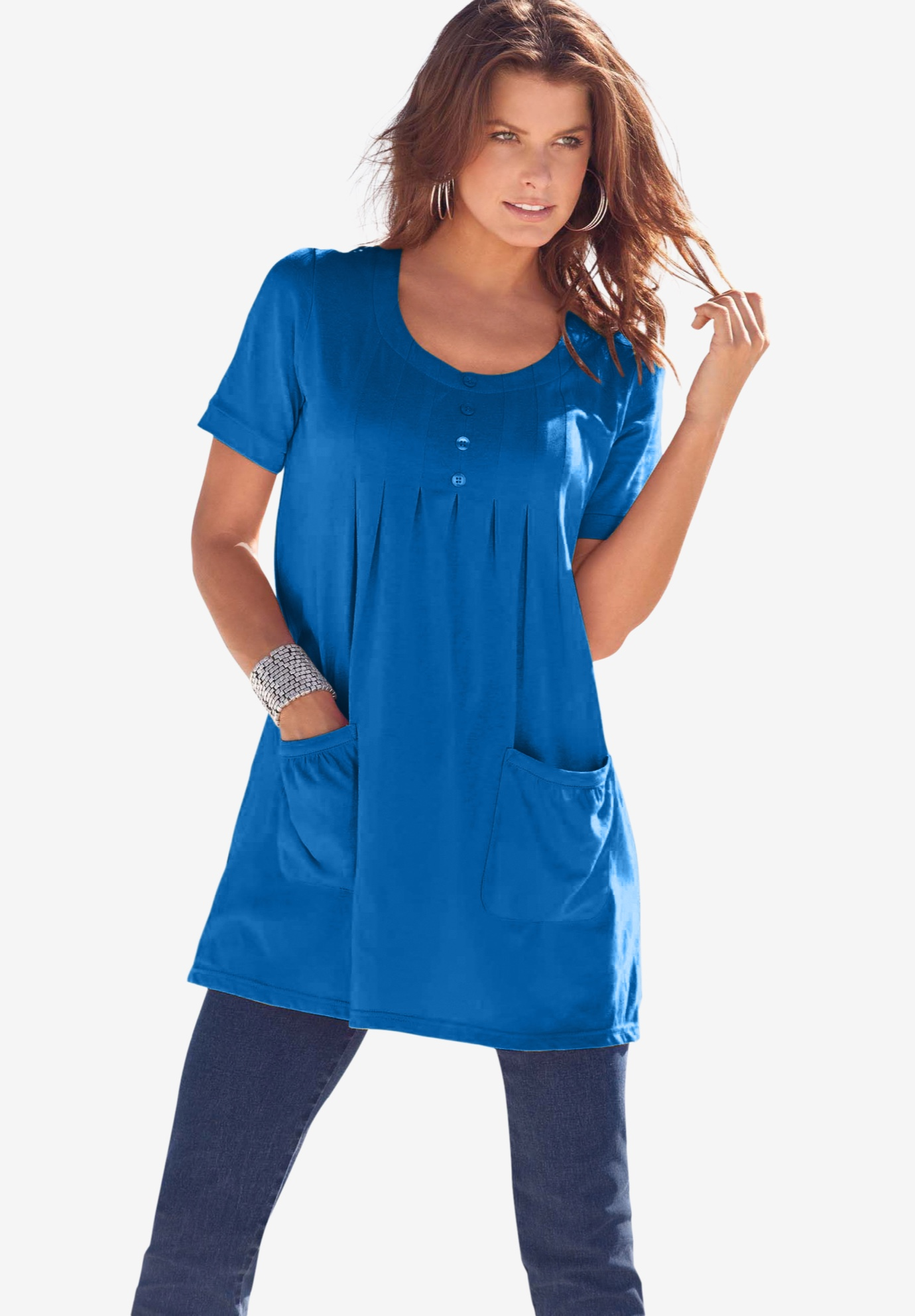 Two-Pocket Soft Knit Tunic,