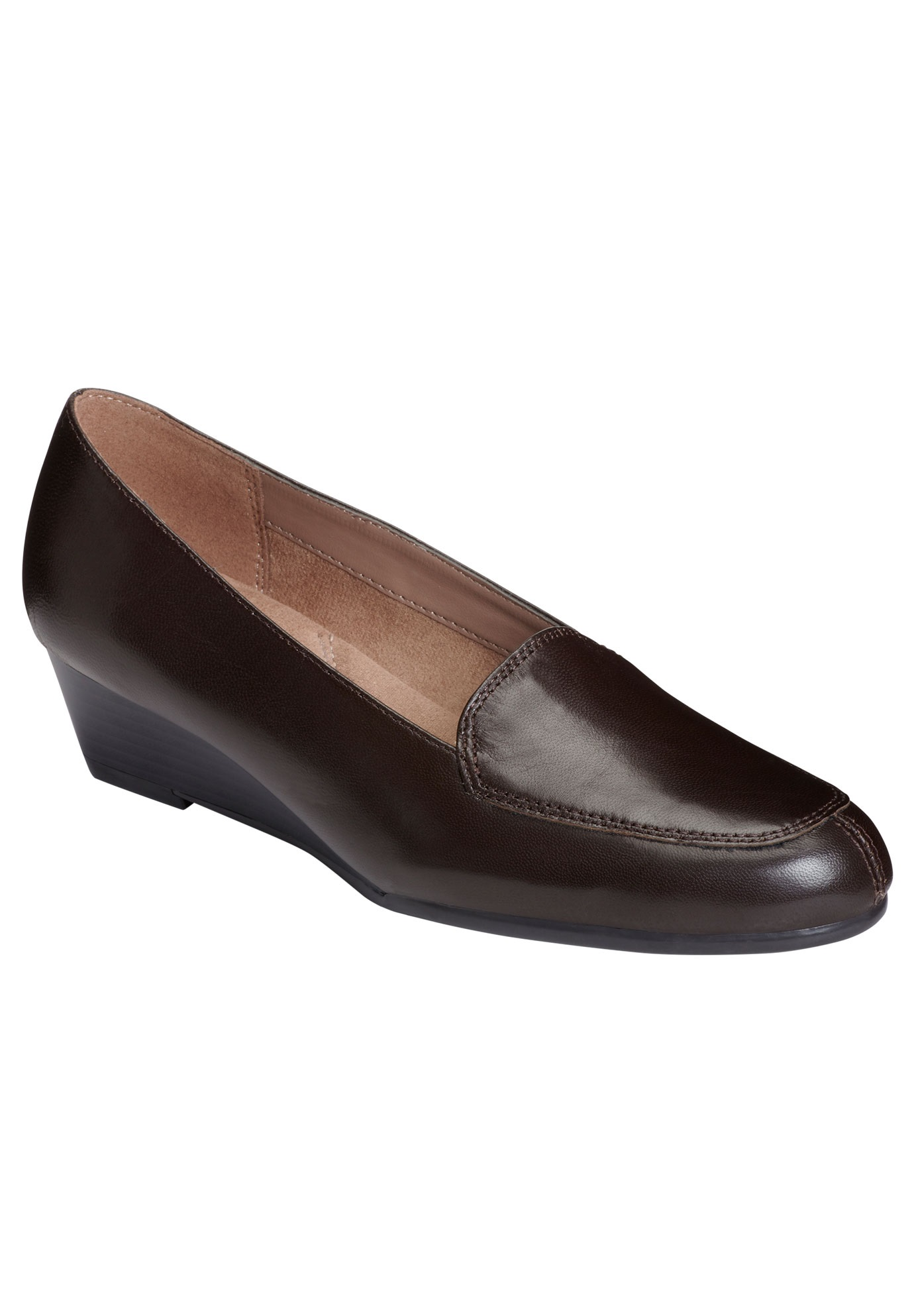 Lovely Loafers by Aerosoles®, DARK BROWN LEATHER, hi-res