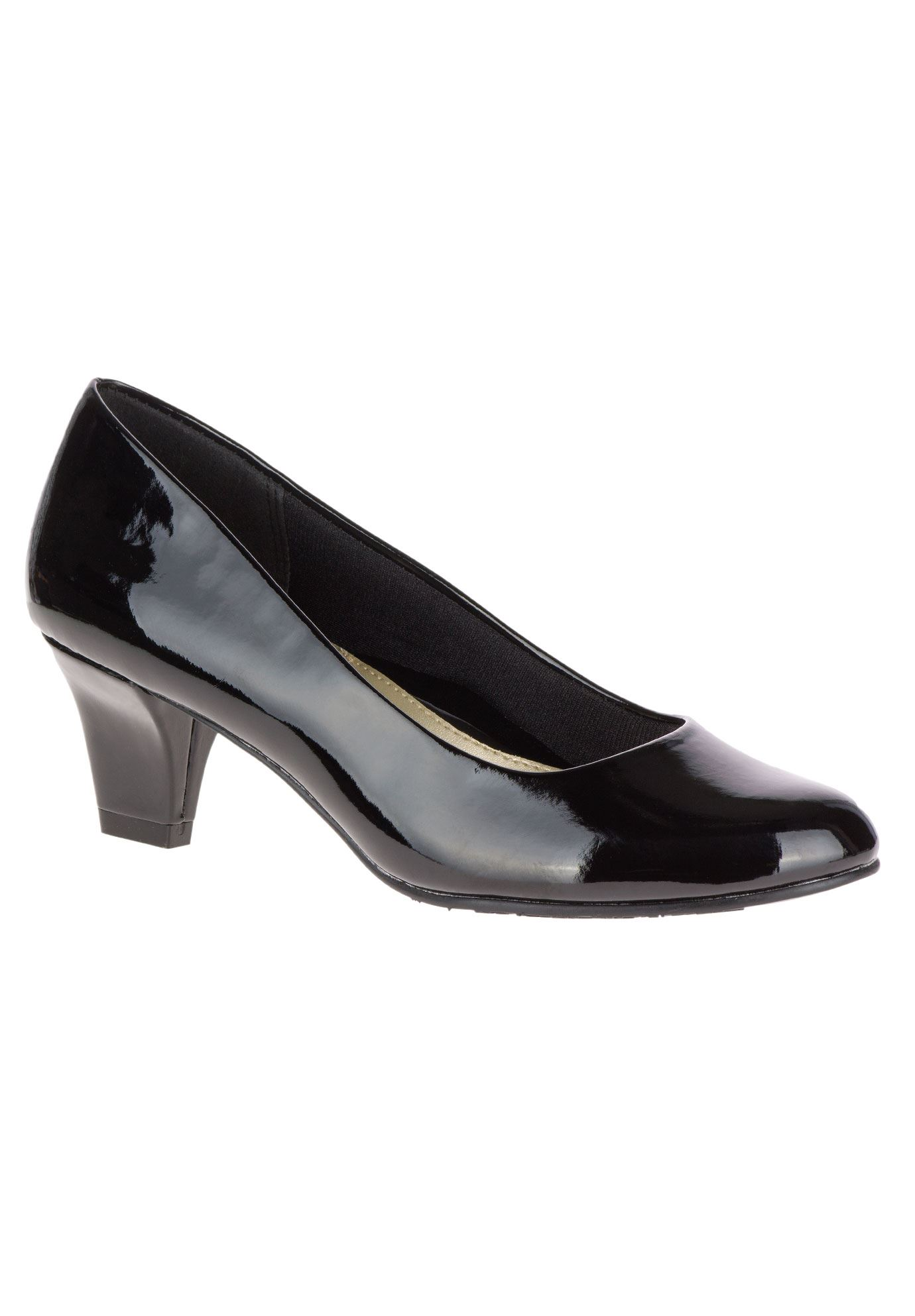 Gail Pumps by Soft Style, BLACK PATENT, hi-res