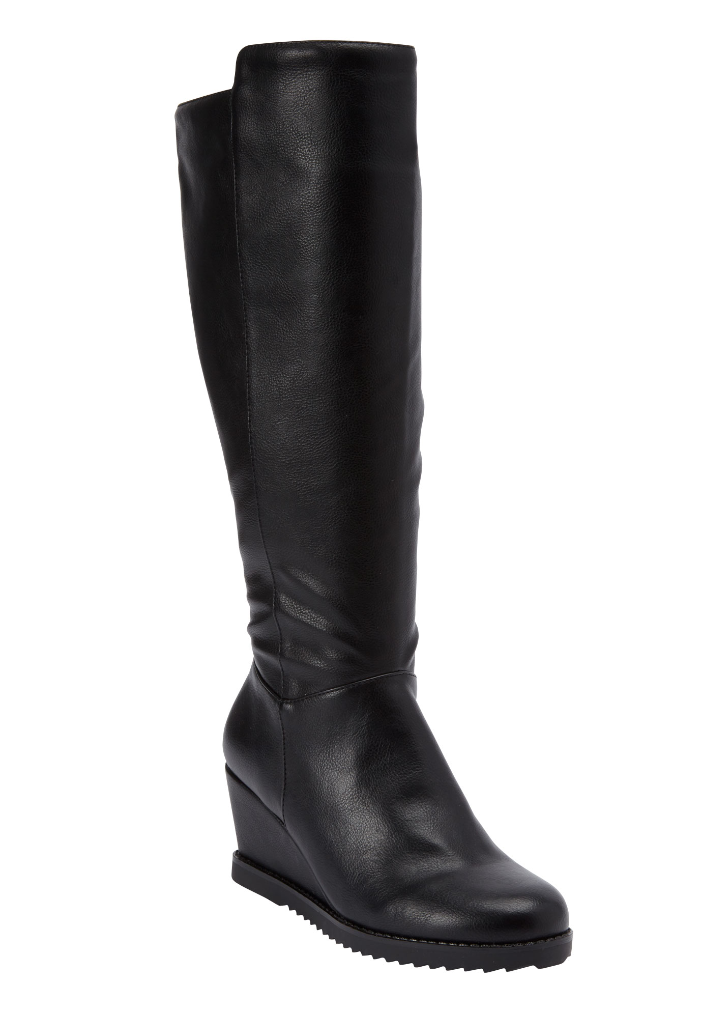 Rockwell Tall Calf Boot by Comfortview, BLACK, hi-res