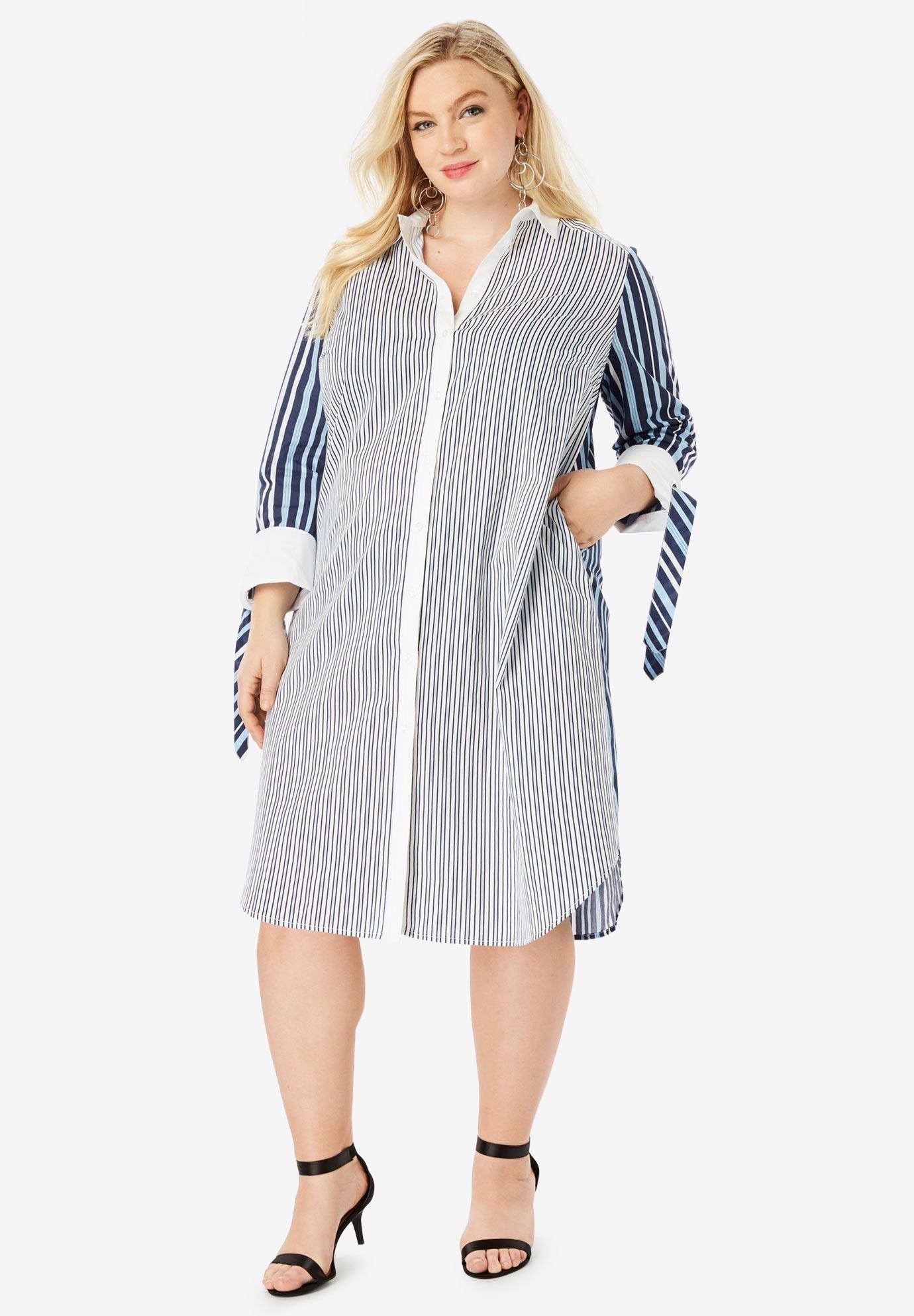 Tie-Sleeve Kate Shirtdress