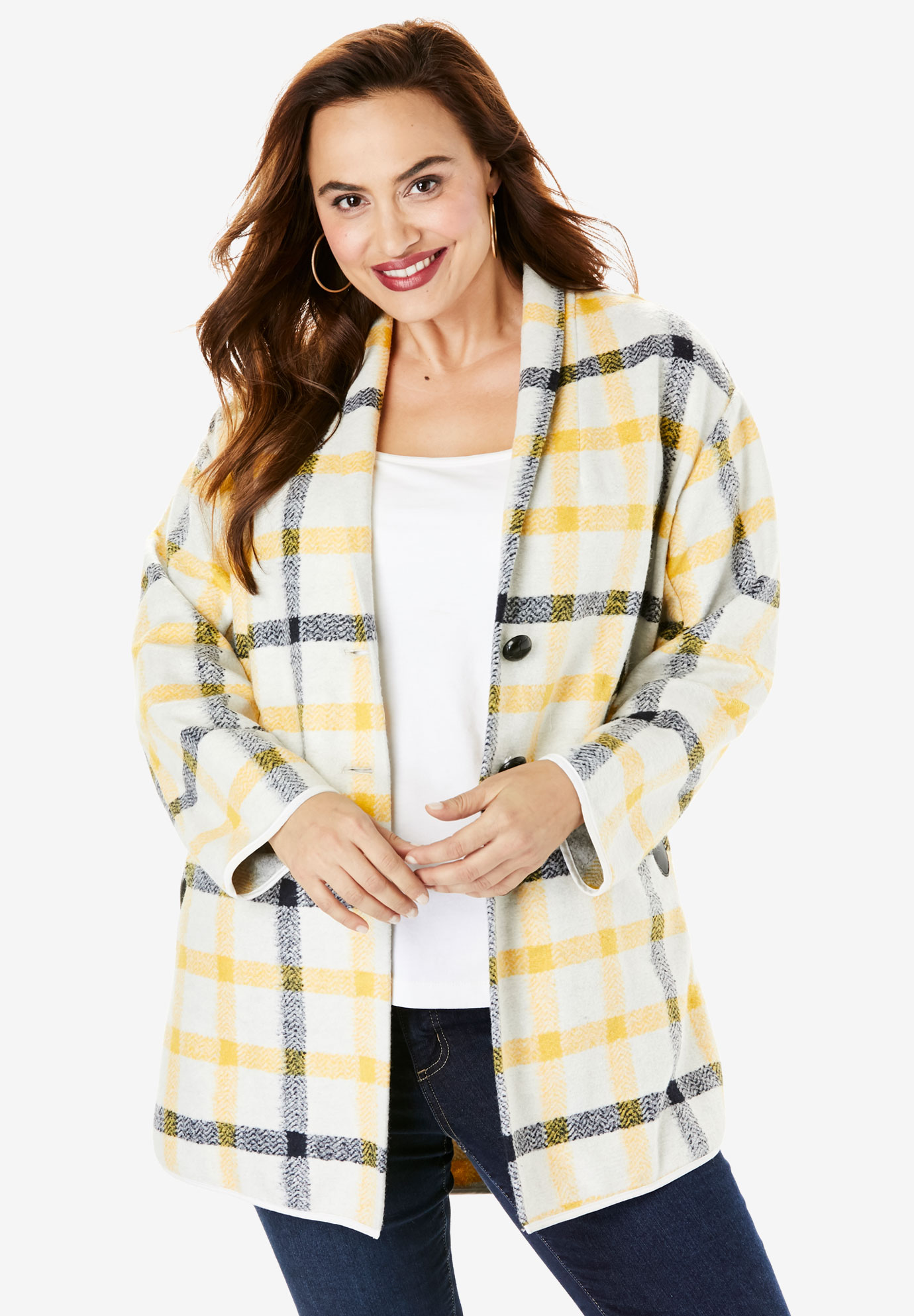 Plaid Car Coat,