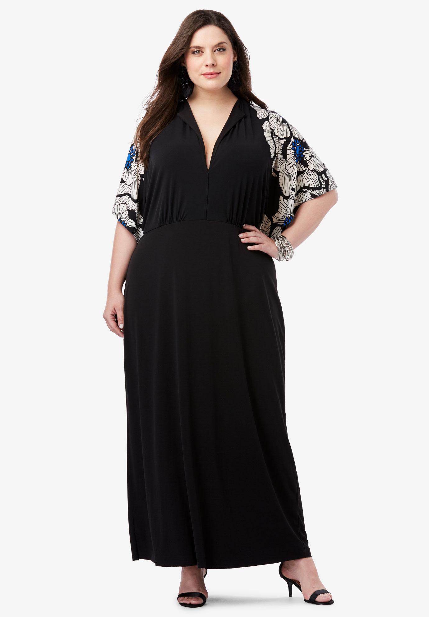 Flutter-Sleeve Maxi Dress