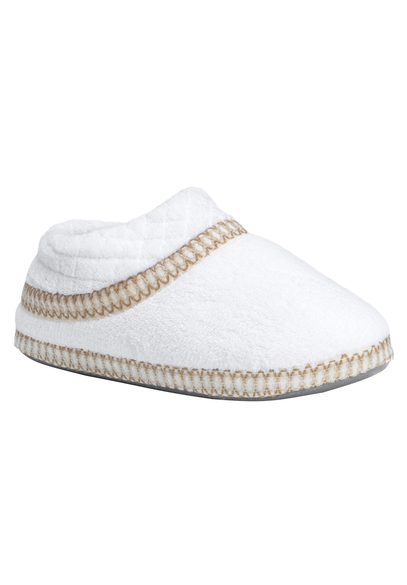 Rita Full Foot Slippers by Muk Luks®, LILY WHITE, hi-res