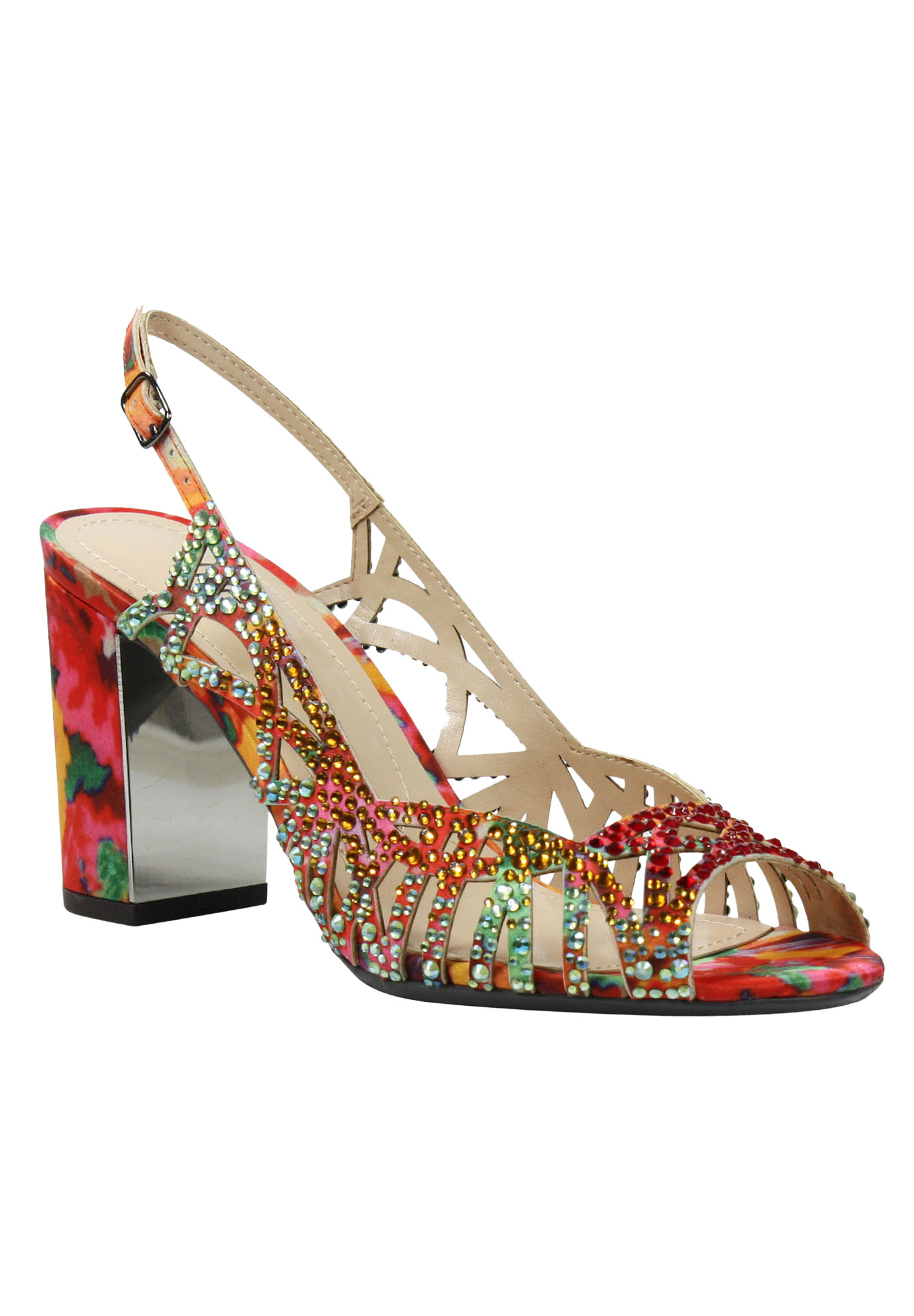 Tahira Pumps by J.Renee®, RED ORANGE MULTI, hi-res