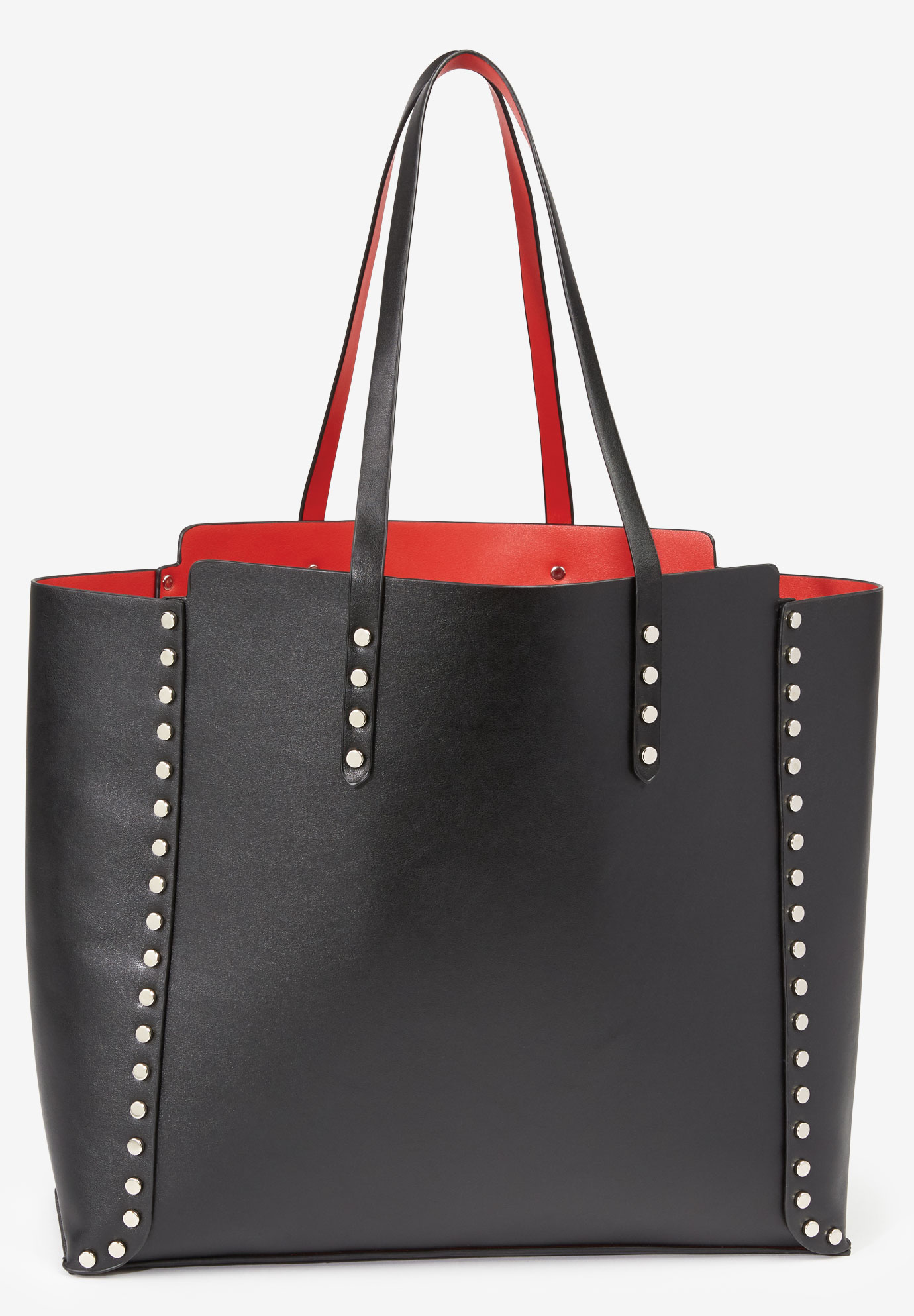 Studded Tote Bag, BLACK