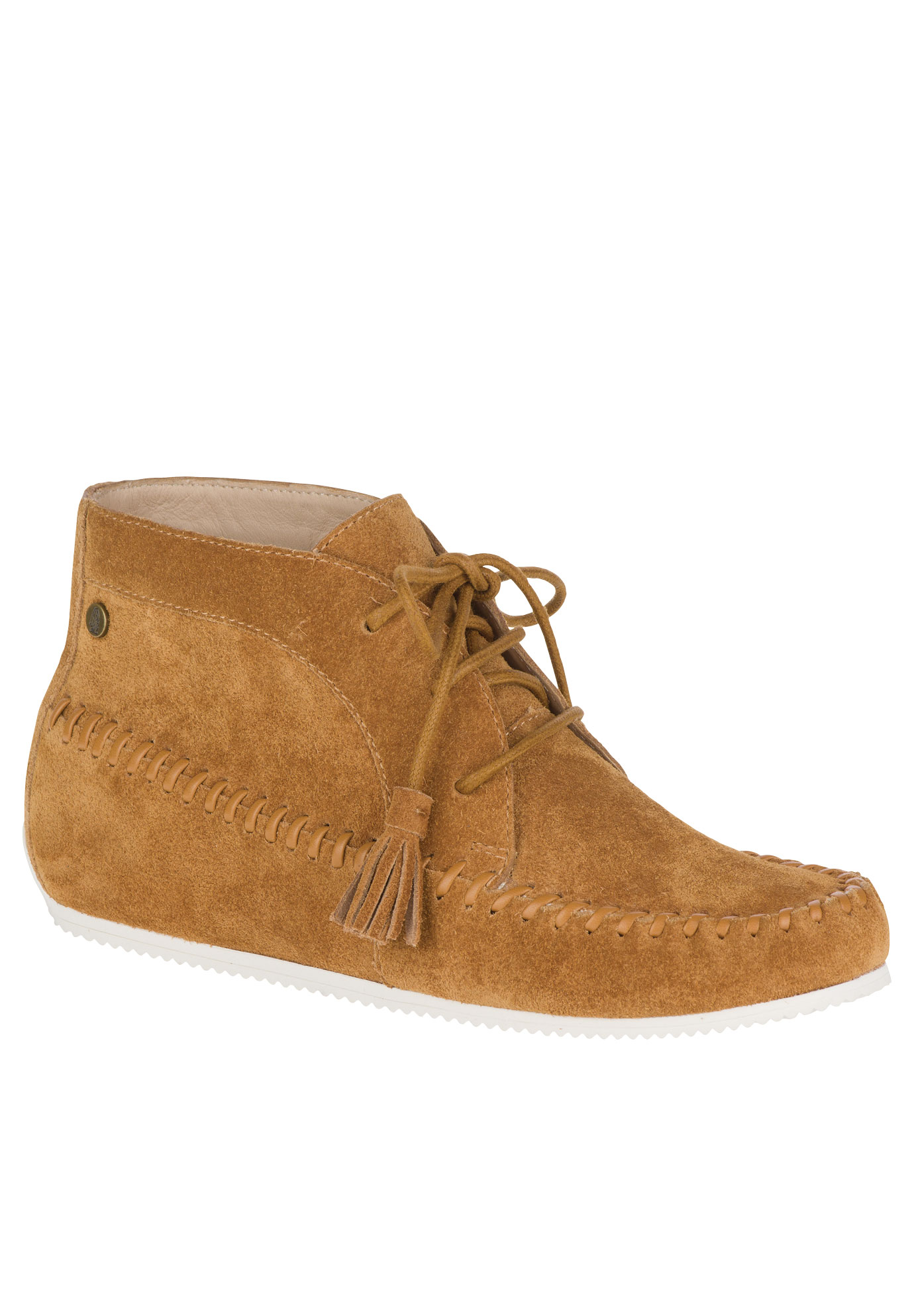 Kinsee Carine Booties by Hush Puppies®, CAMEL SUEDE, hi-res