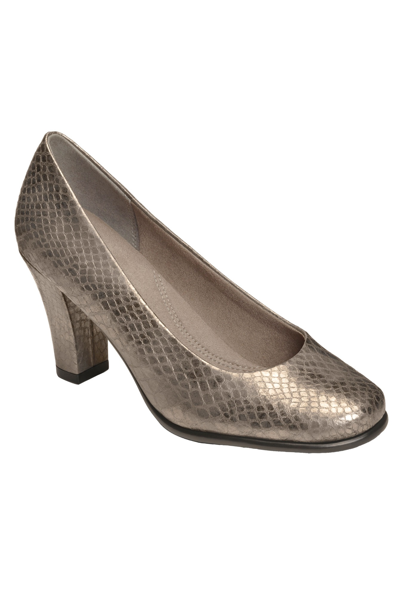 Major Role Pump by Aerosoles®, SILVER SNAKE, hi-res
