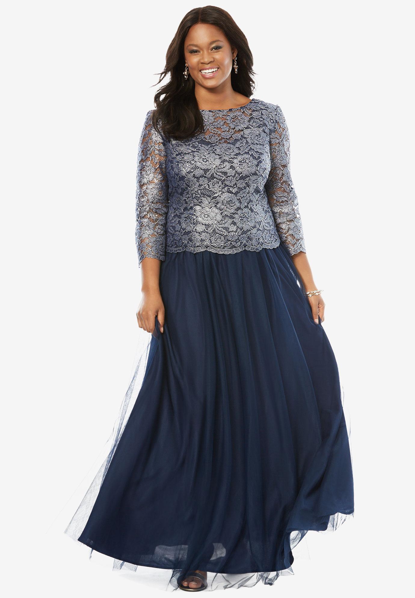 Illusion Lace Popover Dress