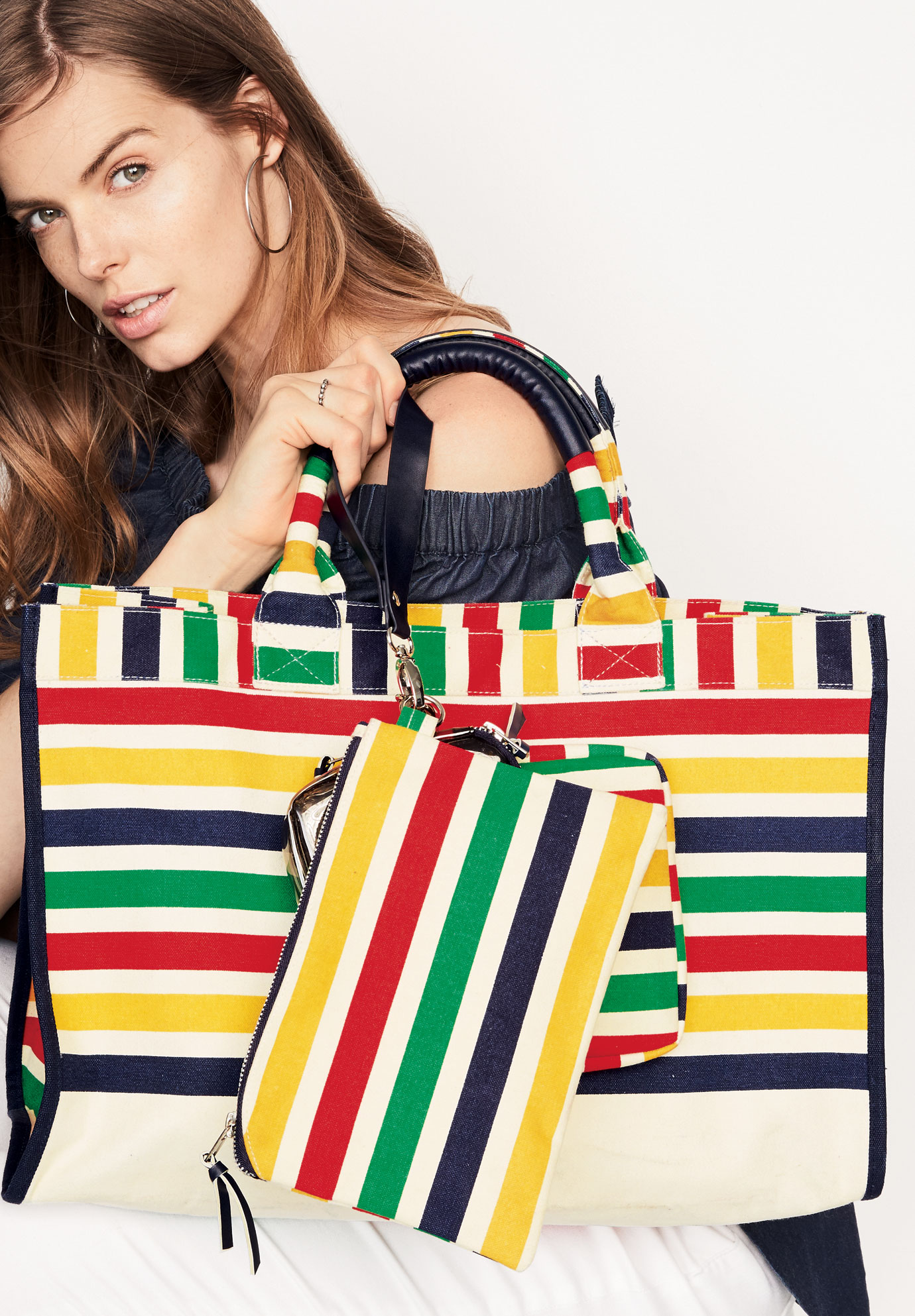 4-Piece Tote Set, MULTI STRIPE