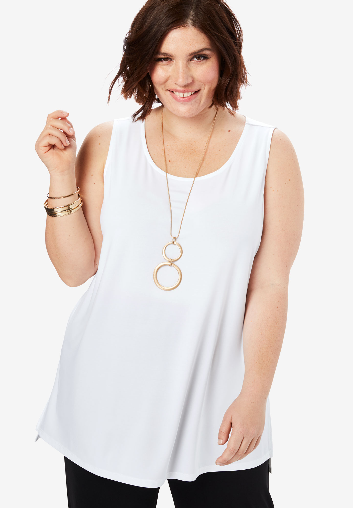 Basic Tunic with High-Low Hem,