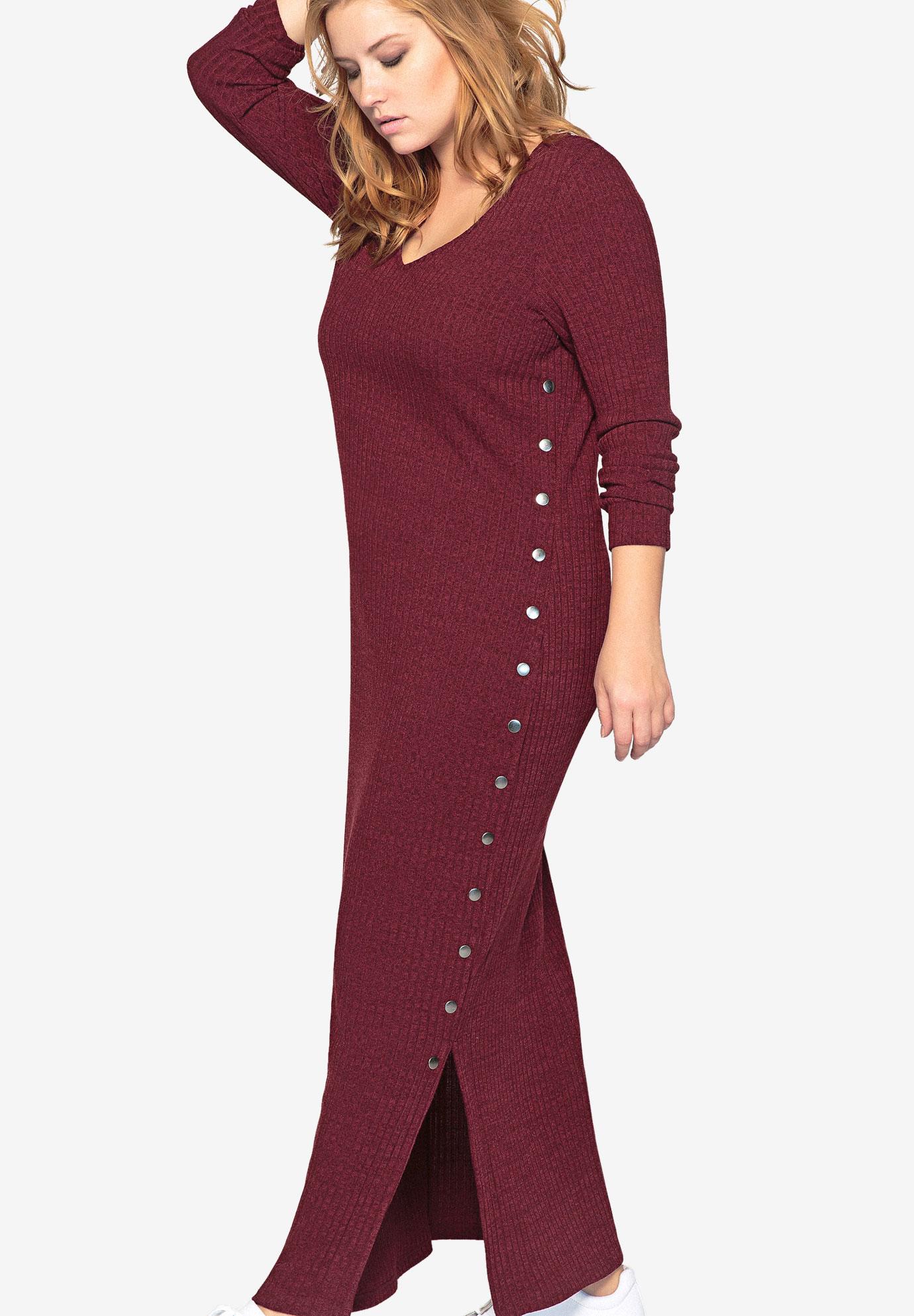 b0183b199c5 Long Sleeve Knit Maxi Dress by Castaluna