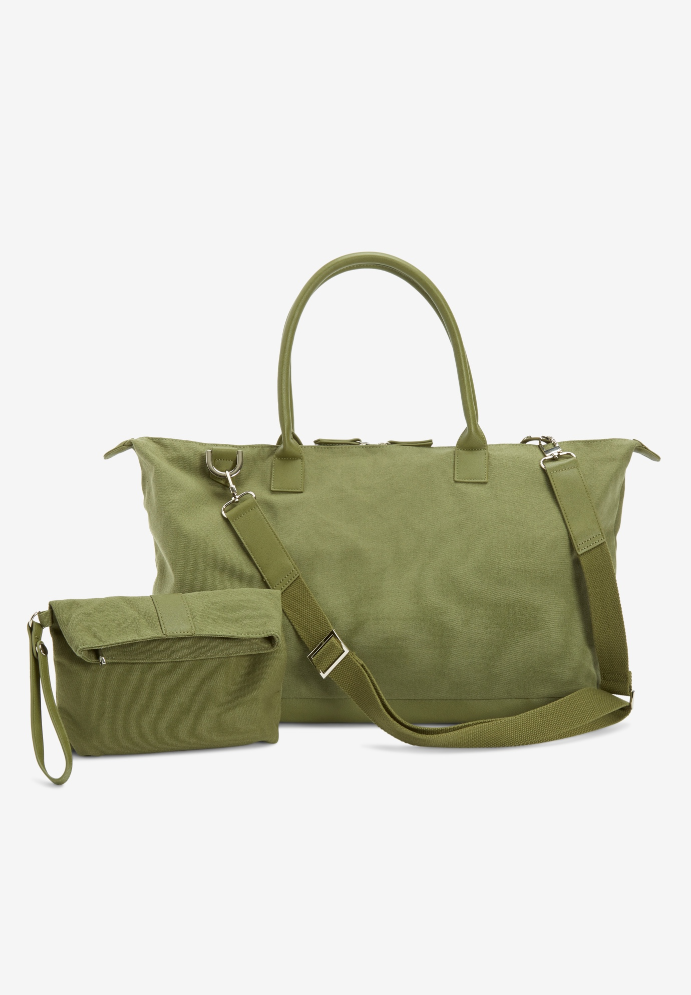 Weekender Bag Set, DARK BASIL