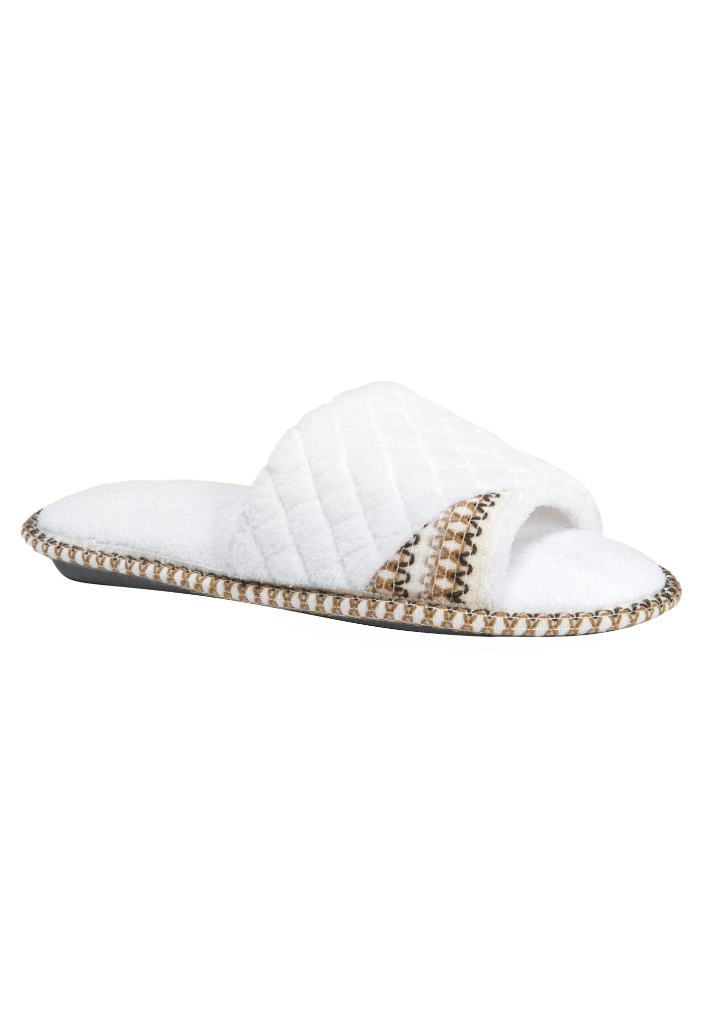 Sally Open Toe Slippers by Muk Luks®, LILY WHITE, hi-res