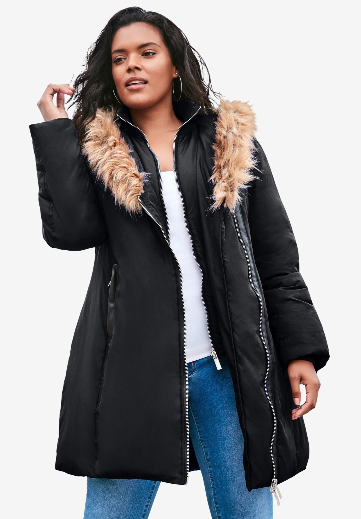 Double-Layer Puffer Coat,