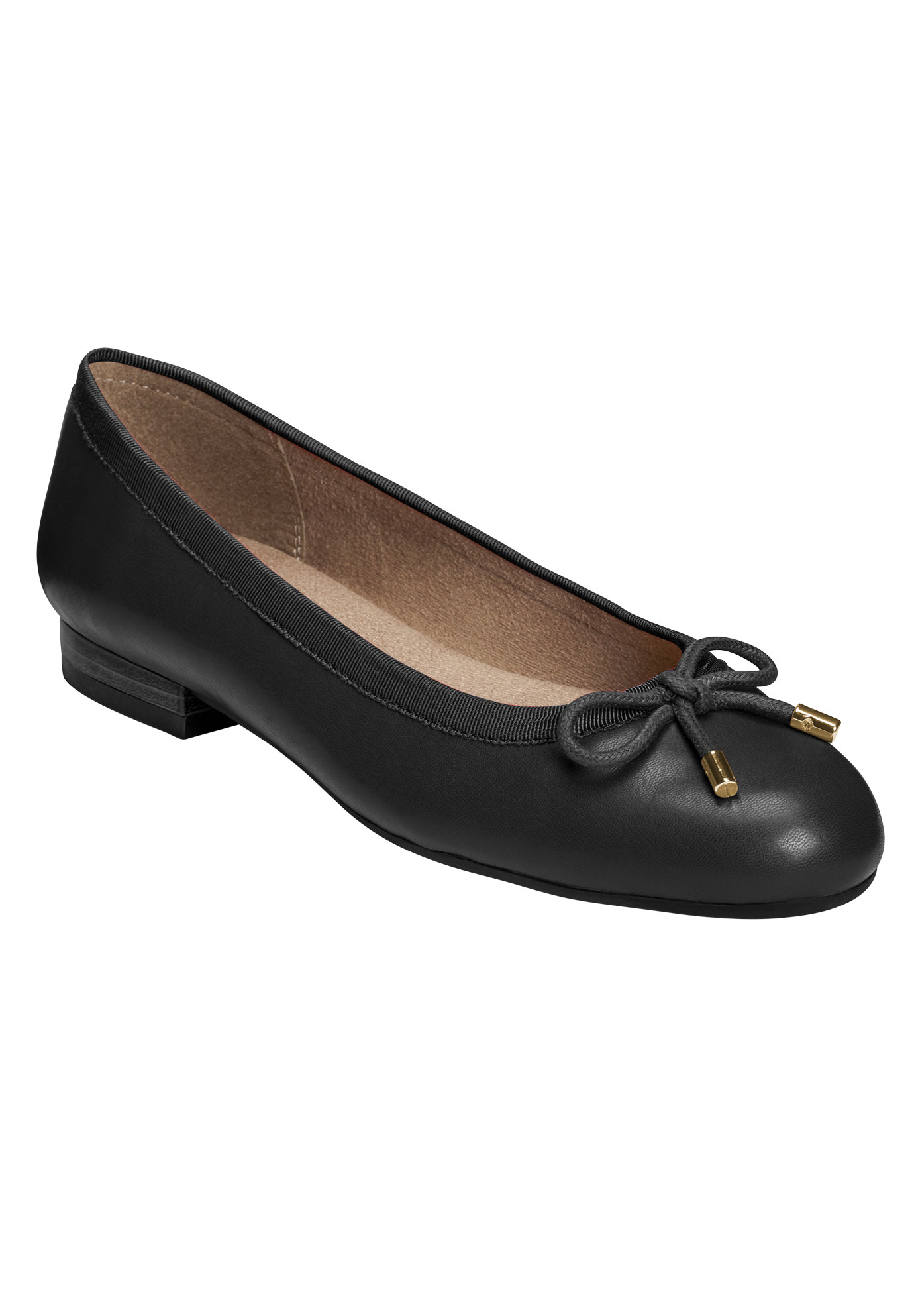 Good Cheer Flats by A2 Aerosoles®, BLACK, hi-res