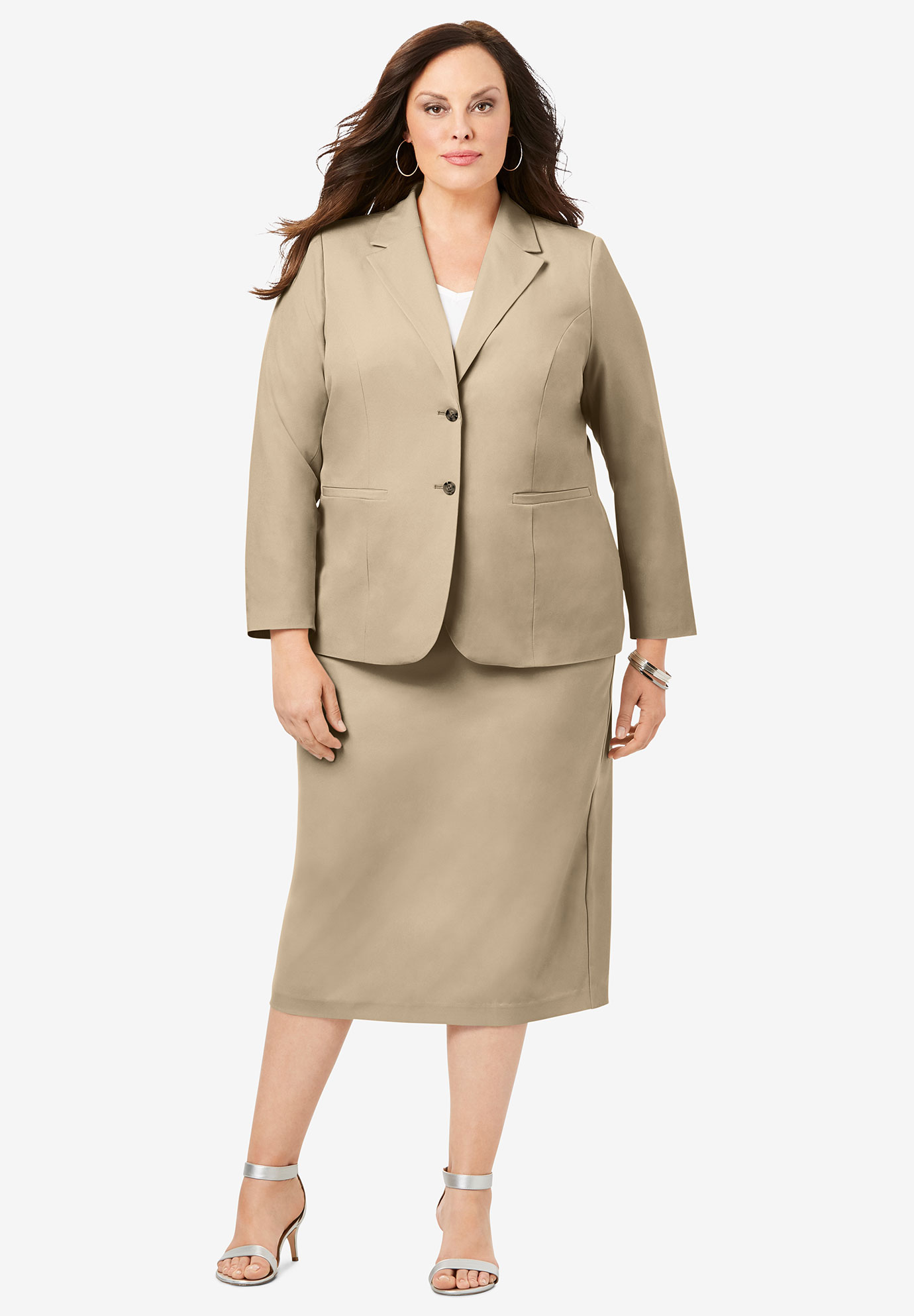 Two-Button Skirt Suit,