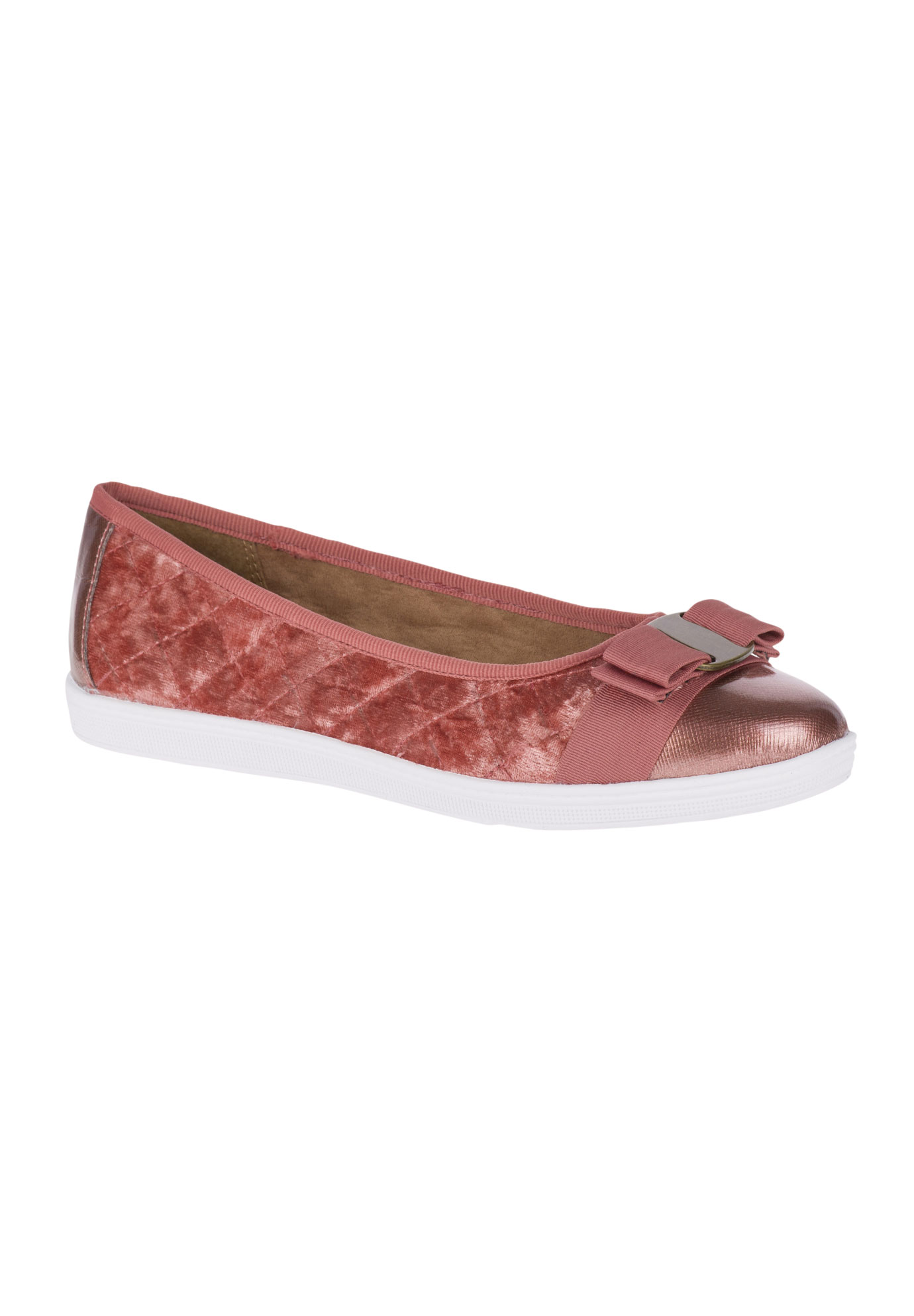 Faeth Flats by Soft Style, ANTIQUE ROSE VELVET, hi-res