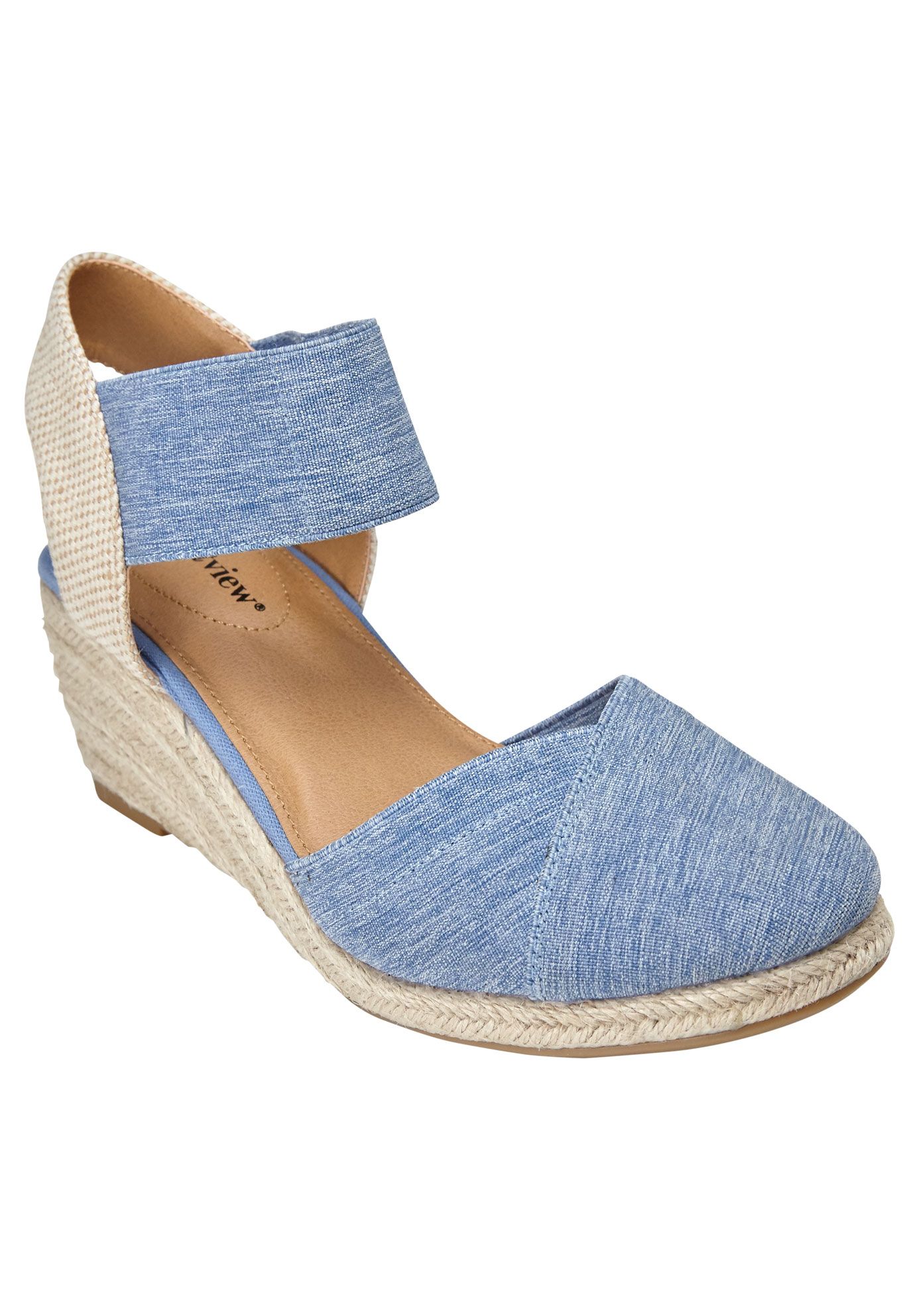 Abra Espadrille by Comfortview®, DENIM, hi-res