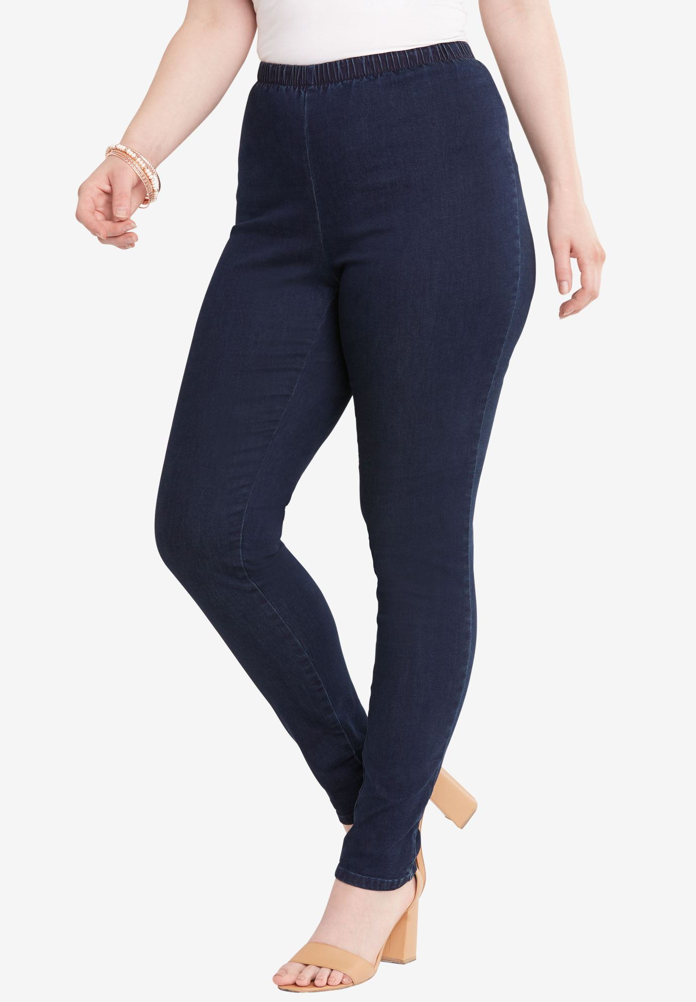 Skinny Pull-On Stretch Jegging by Denim 24/7®,