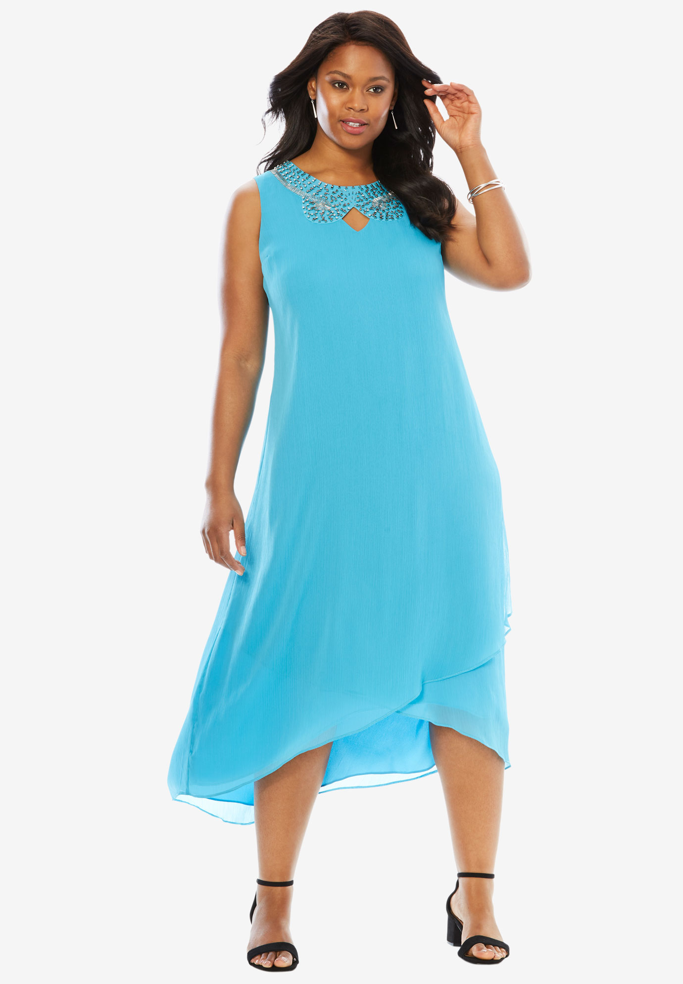 Embellished Maxi Dress | Plus Size Casual Dresses | Roaman\'s