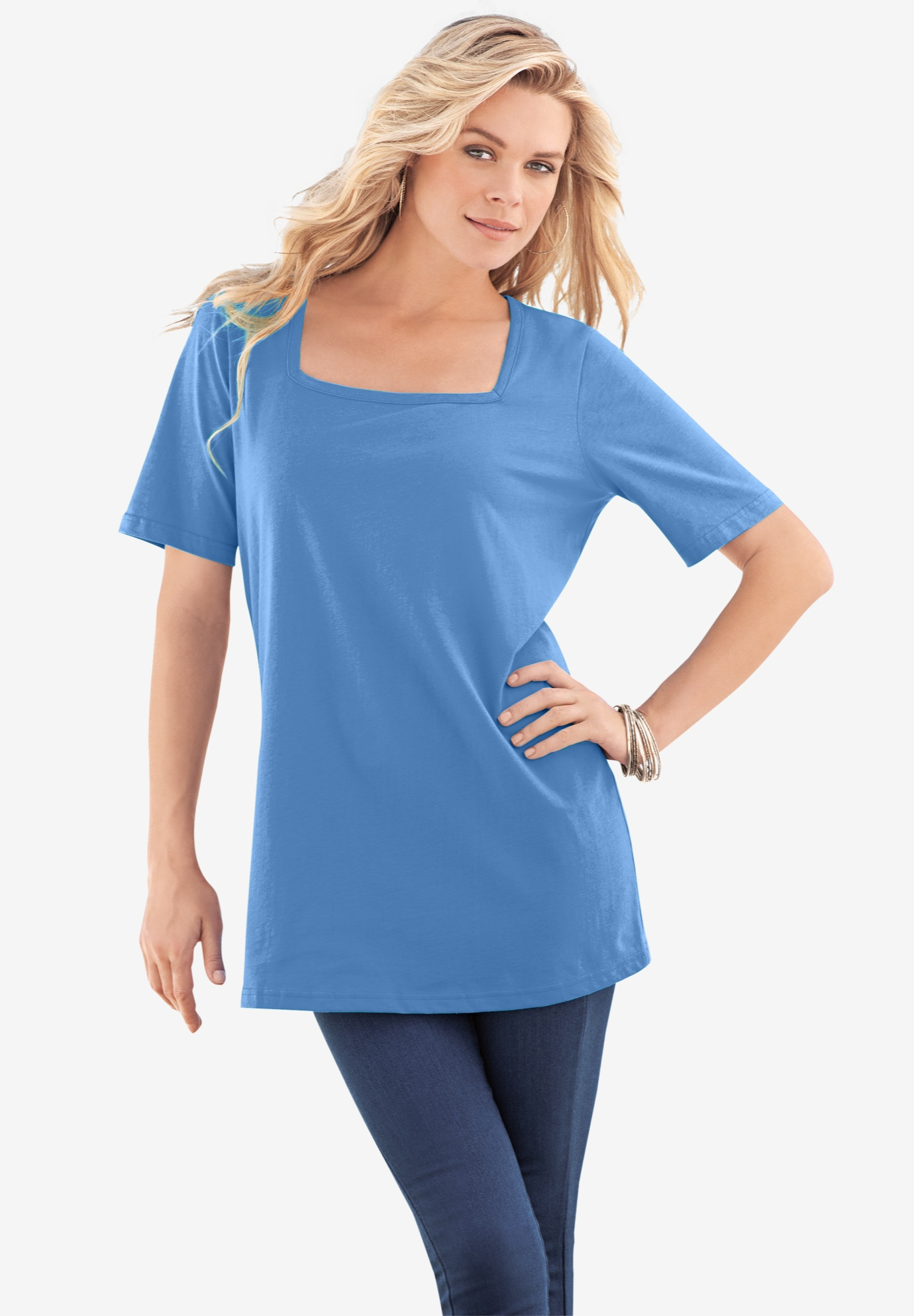 Short-Sleeve Squareneck Ultimate Tee,