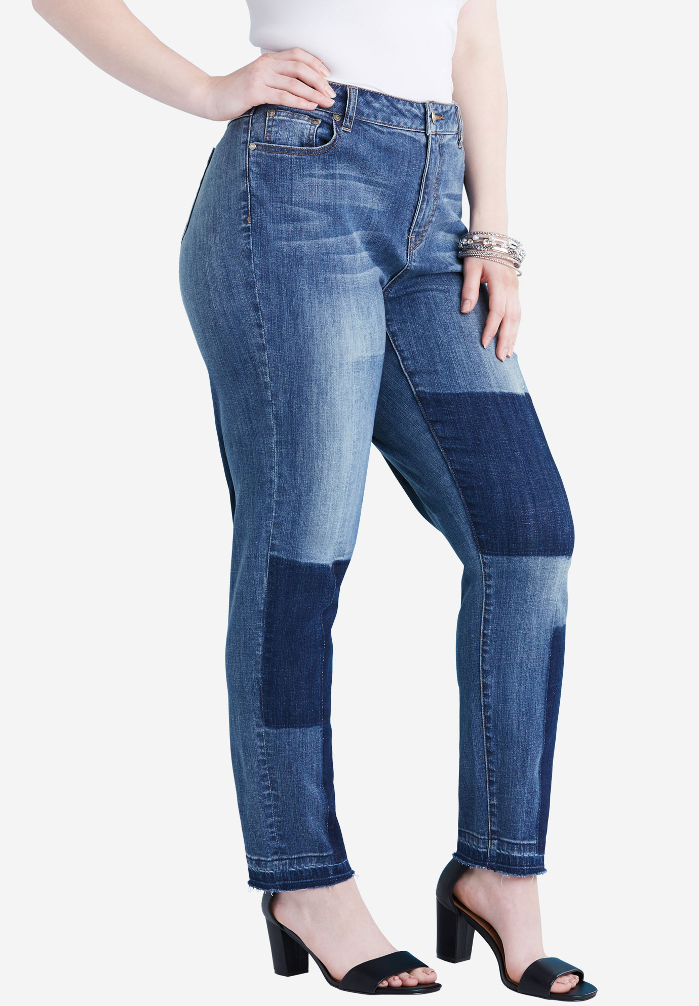 Shadow Patch Boyfriend Jean by Denim 24/7®,