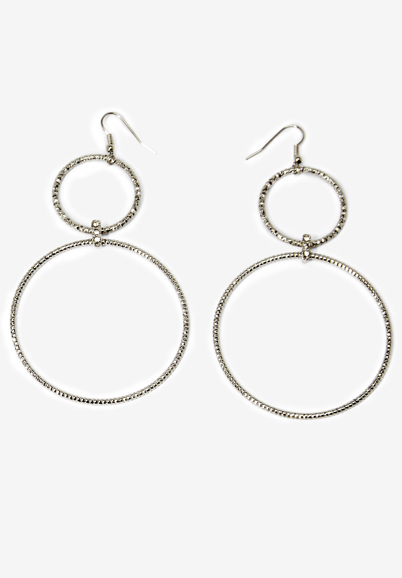 Circle Drop Earrings,