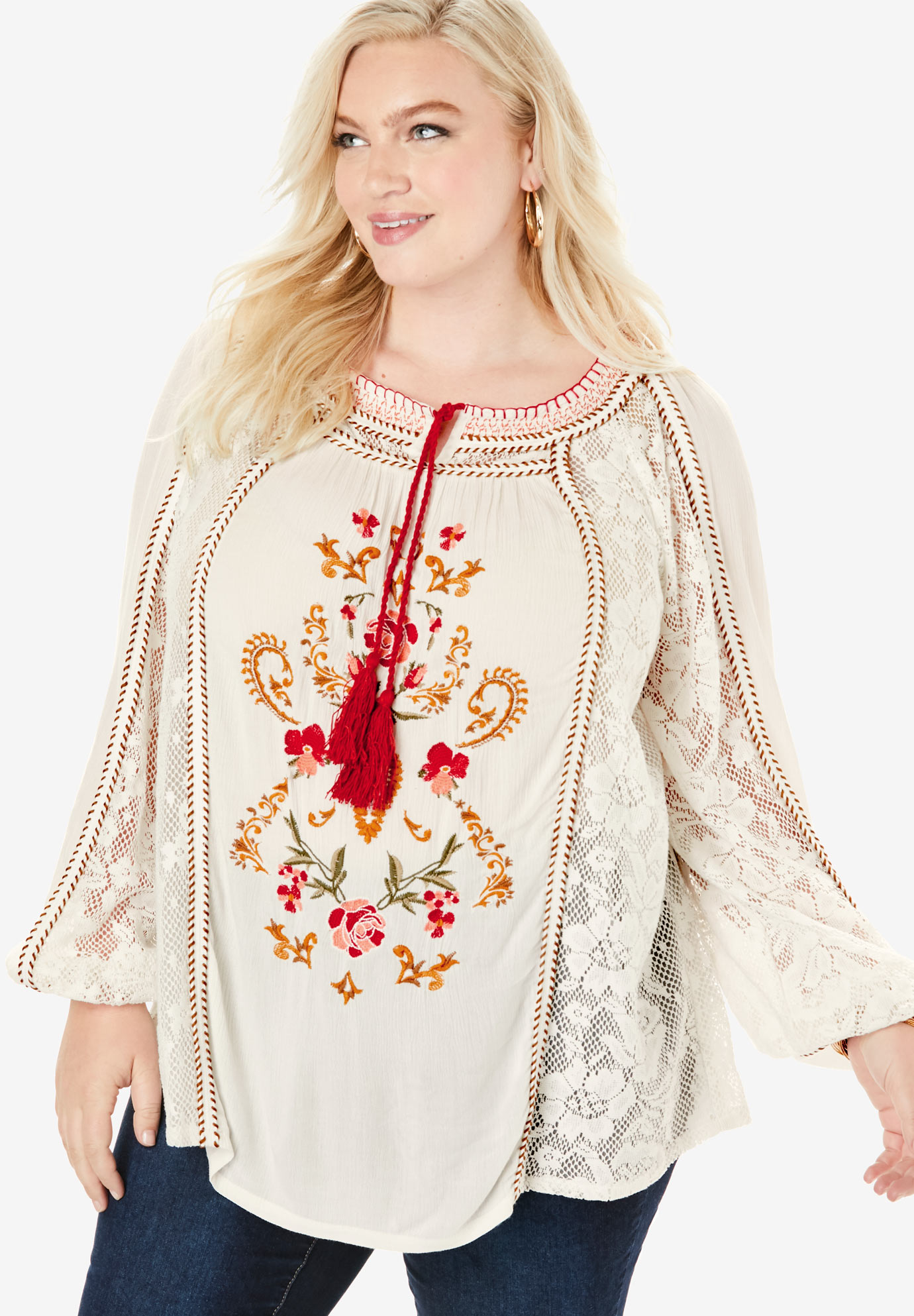 Embroidered Boho Tunic,