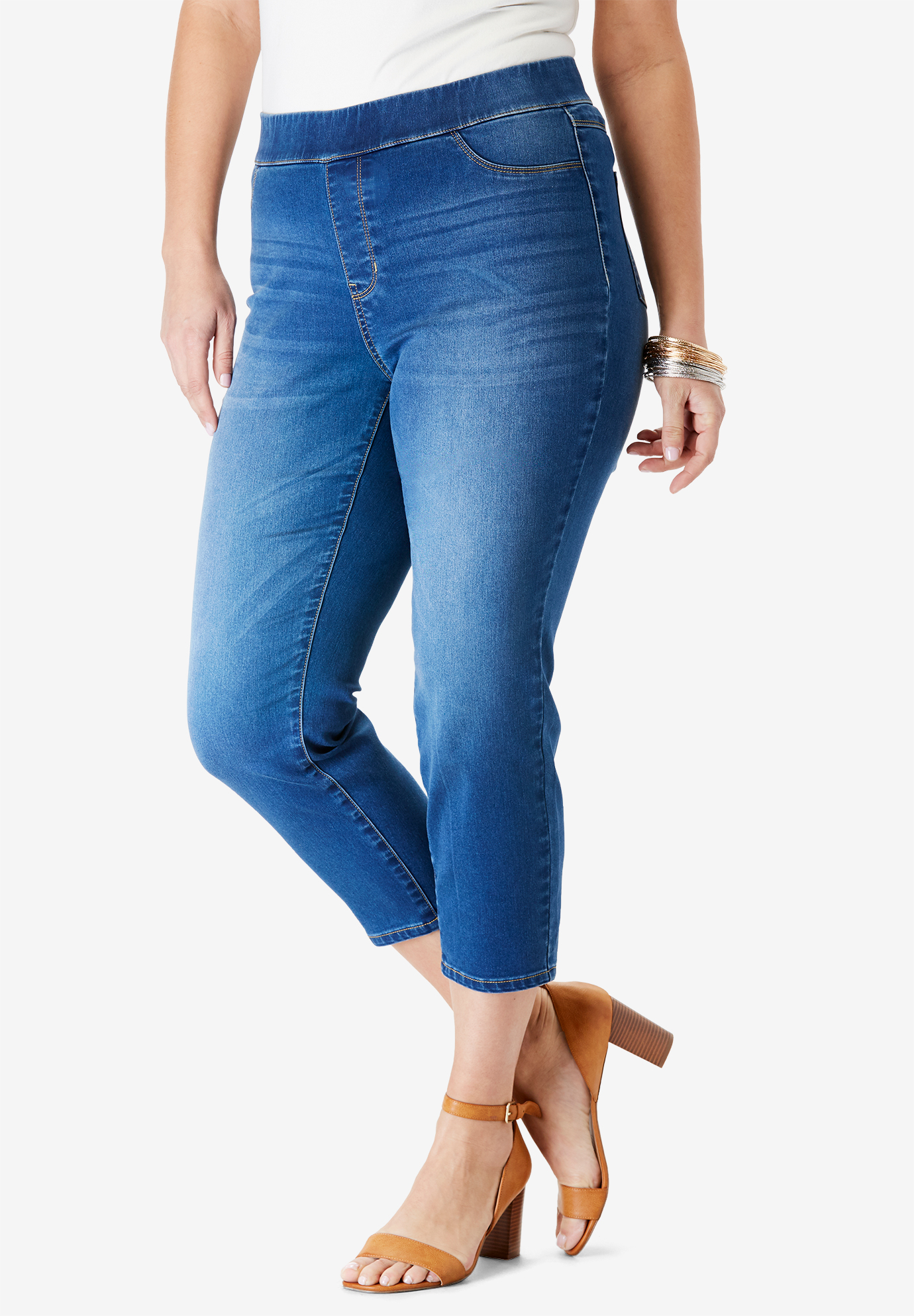 The No-Gap Capri Jean by Denim 24/7®,