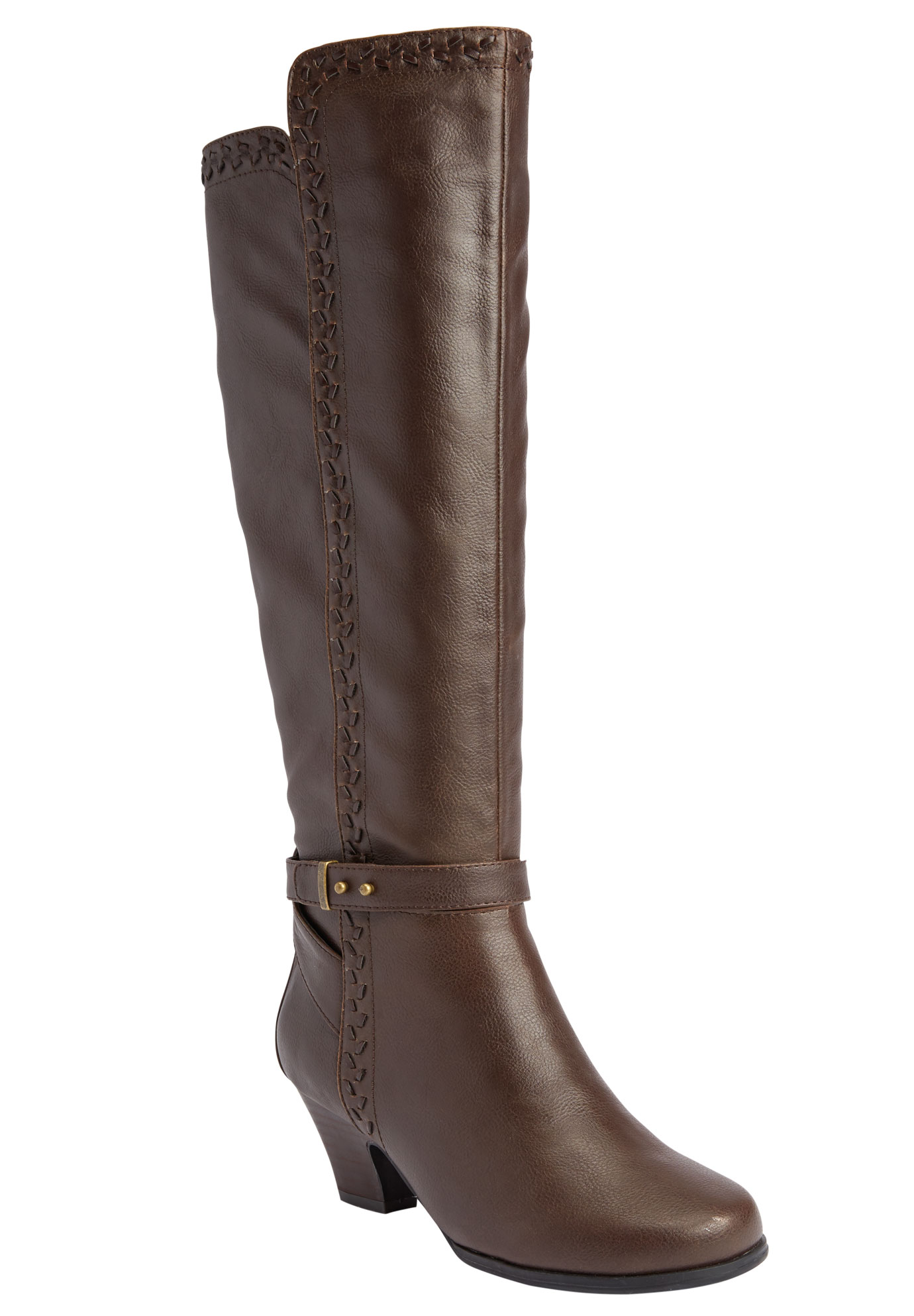 Eloise Regular Calf Boot by Comfortview®, BROWN, hi-res