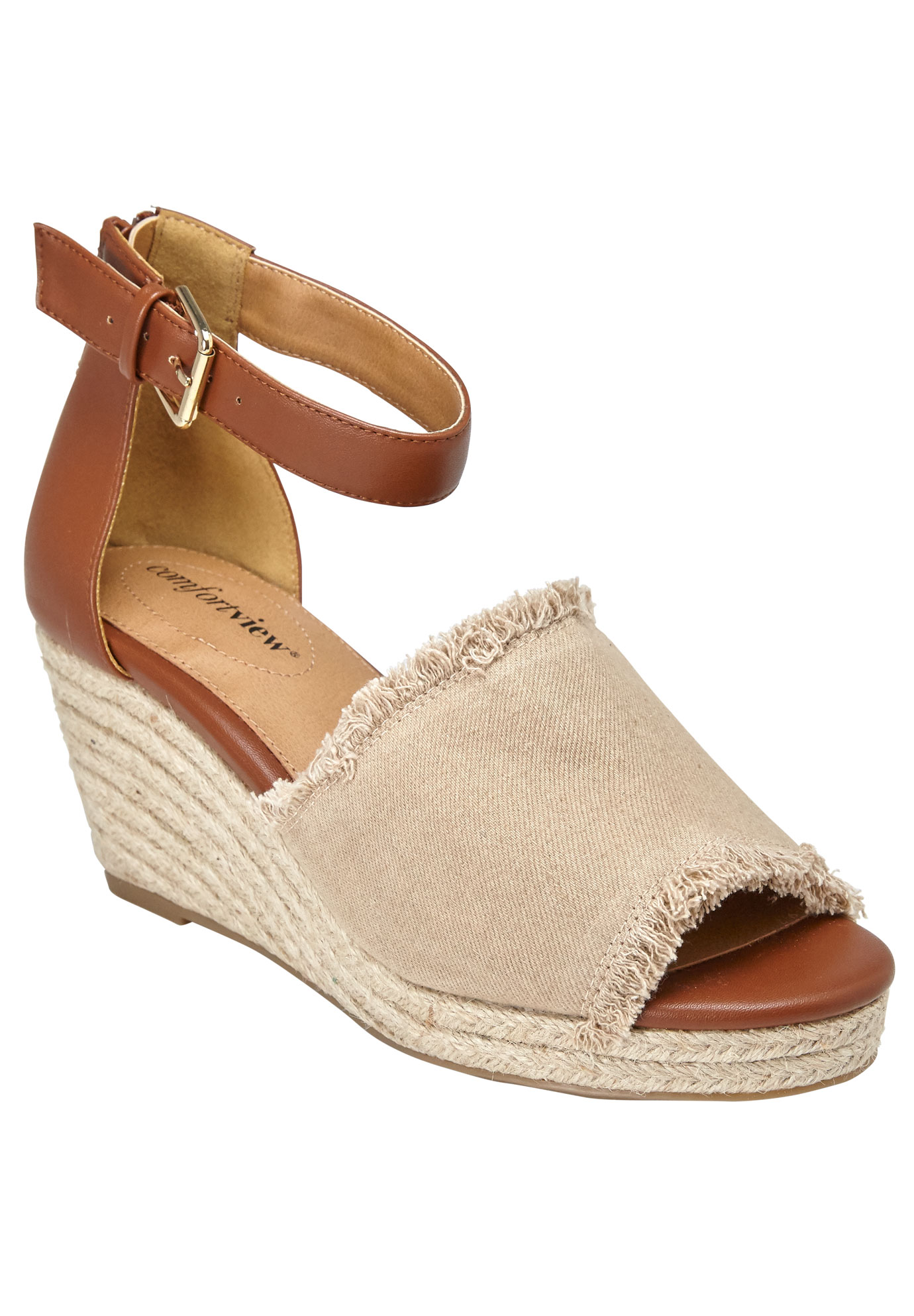 Journee Sandals by Comfortview®, NATURAL, hi-res