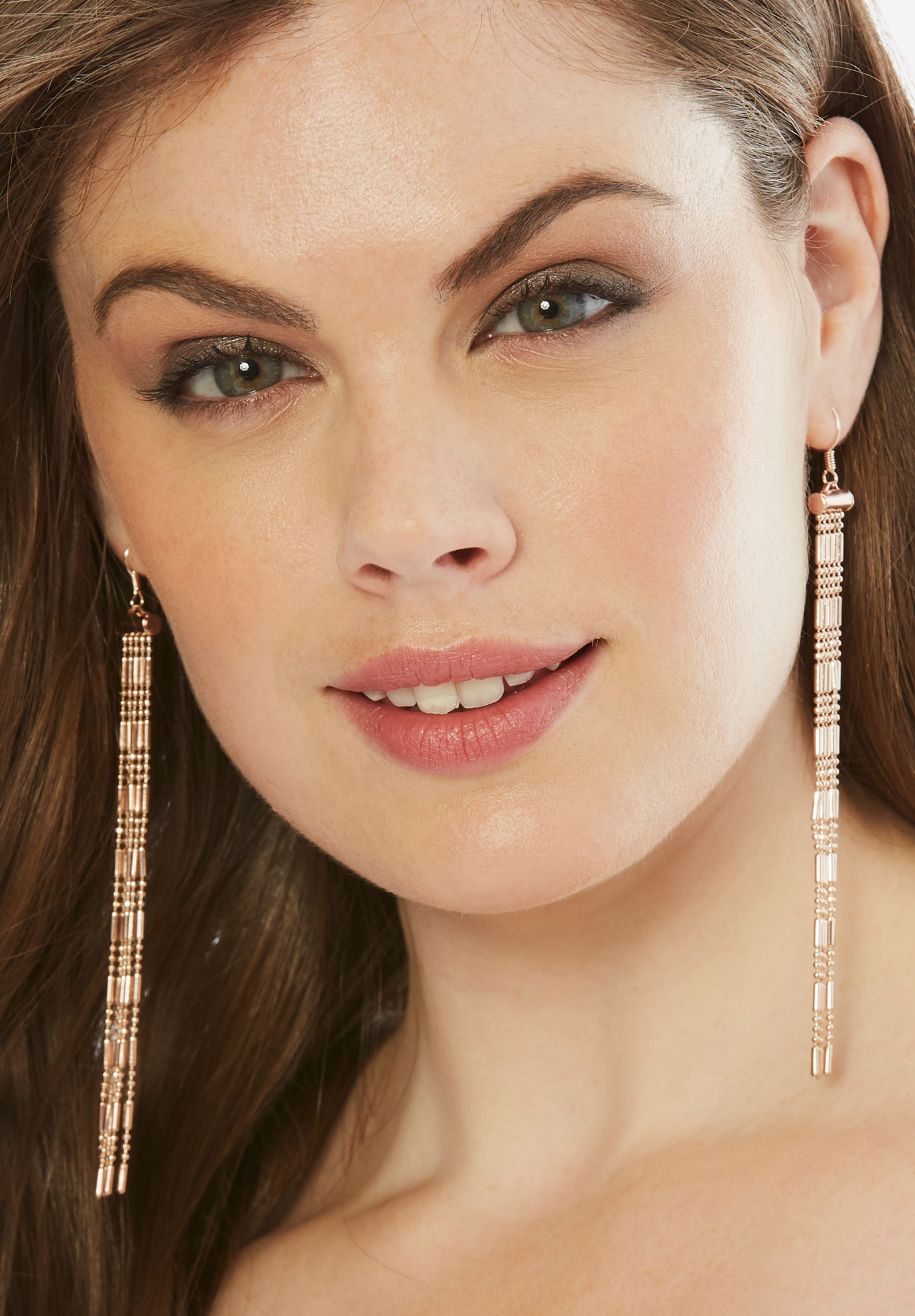 Tassel Earrings, ROSE GOLD