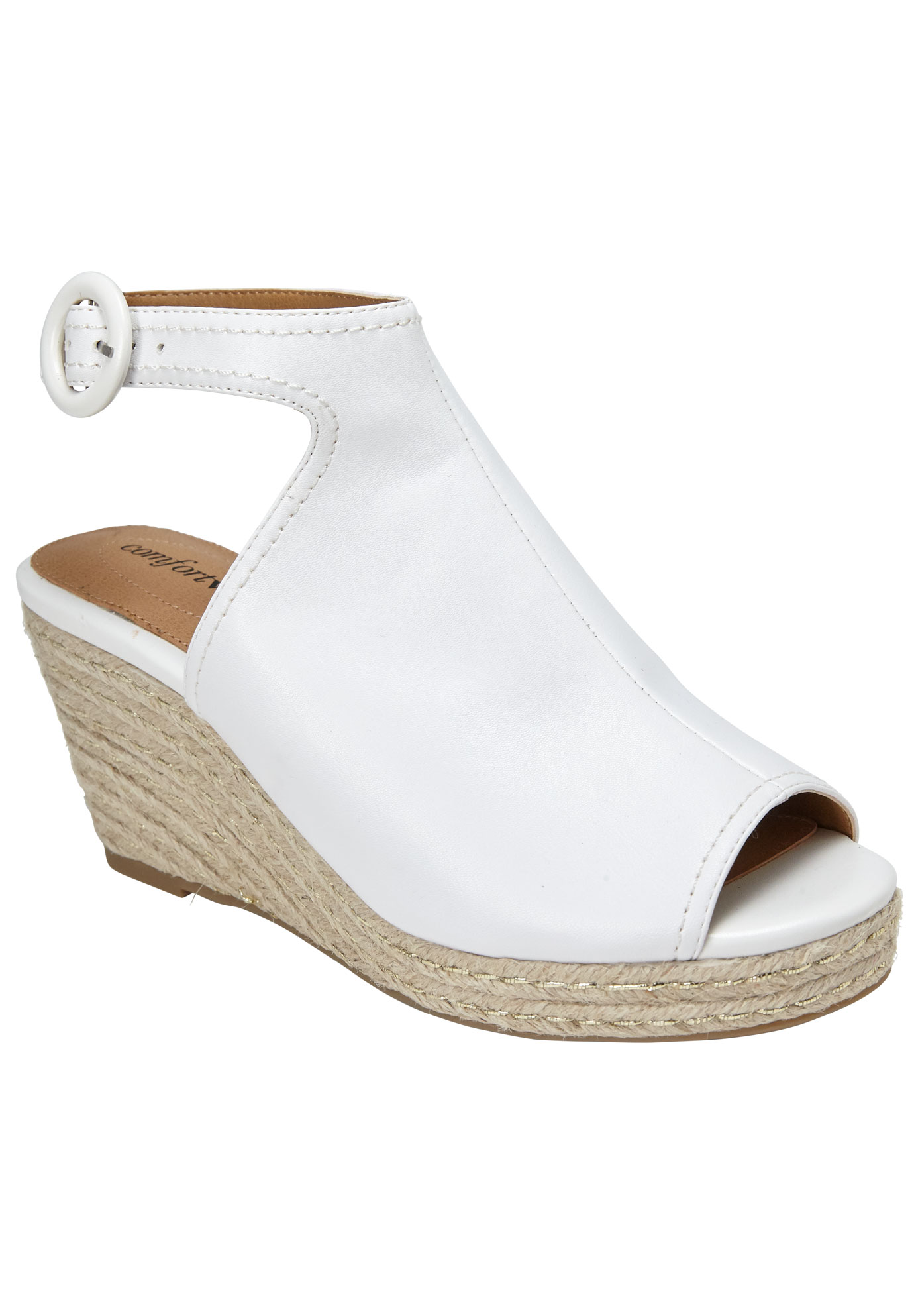 Jaydee Sandals by Comfortview®, WHITE, hi-res